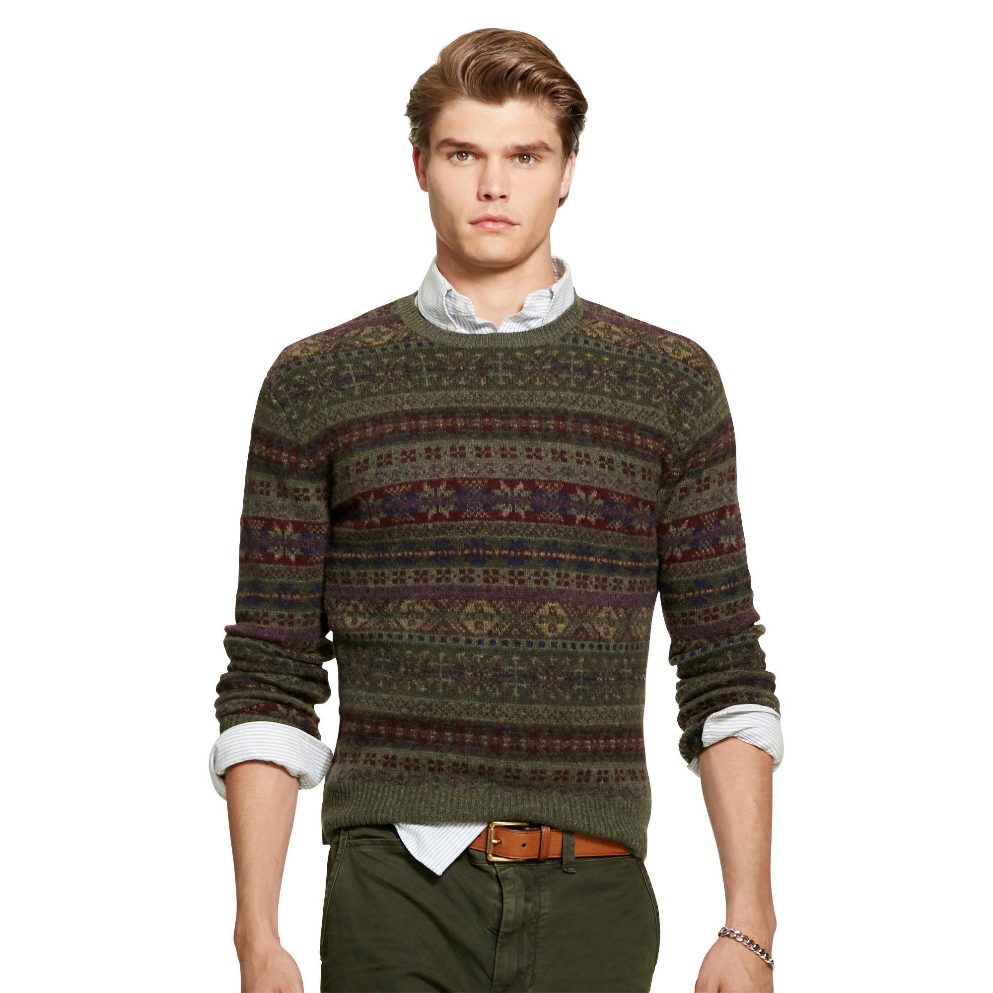 883d4fd70 Polo Ralph Lauren Fair Isle Wool-blend Sweater for Men - Lyst