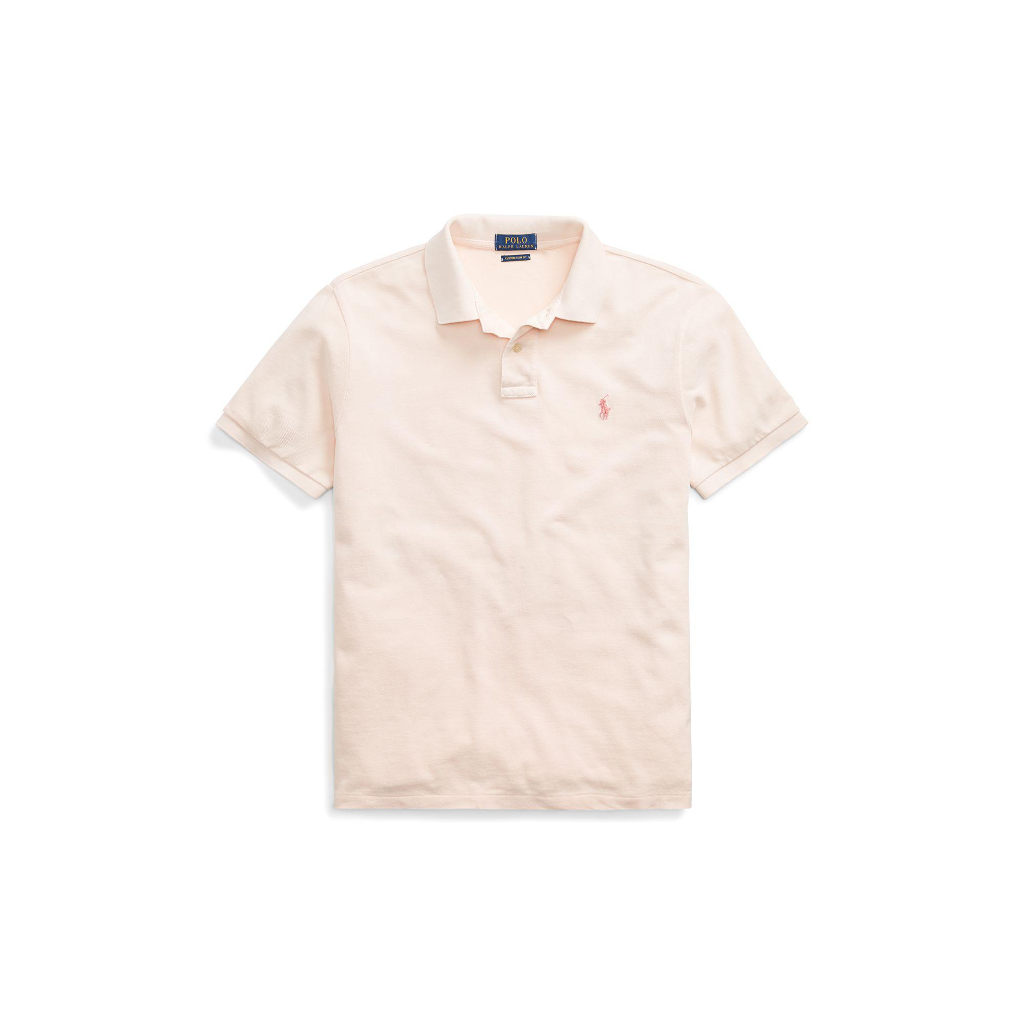9a838d580d Lyst - Polo Ralph Lauren Pink Pony Custom Slim Polo in Pink for Men