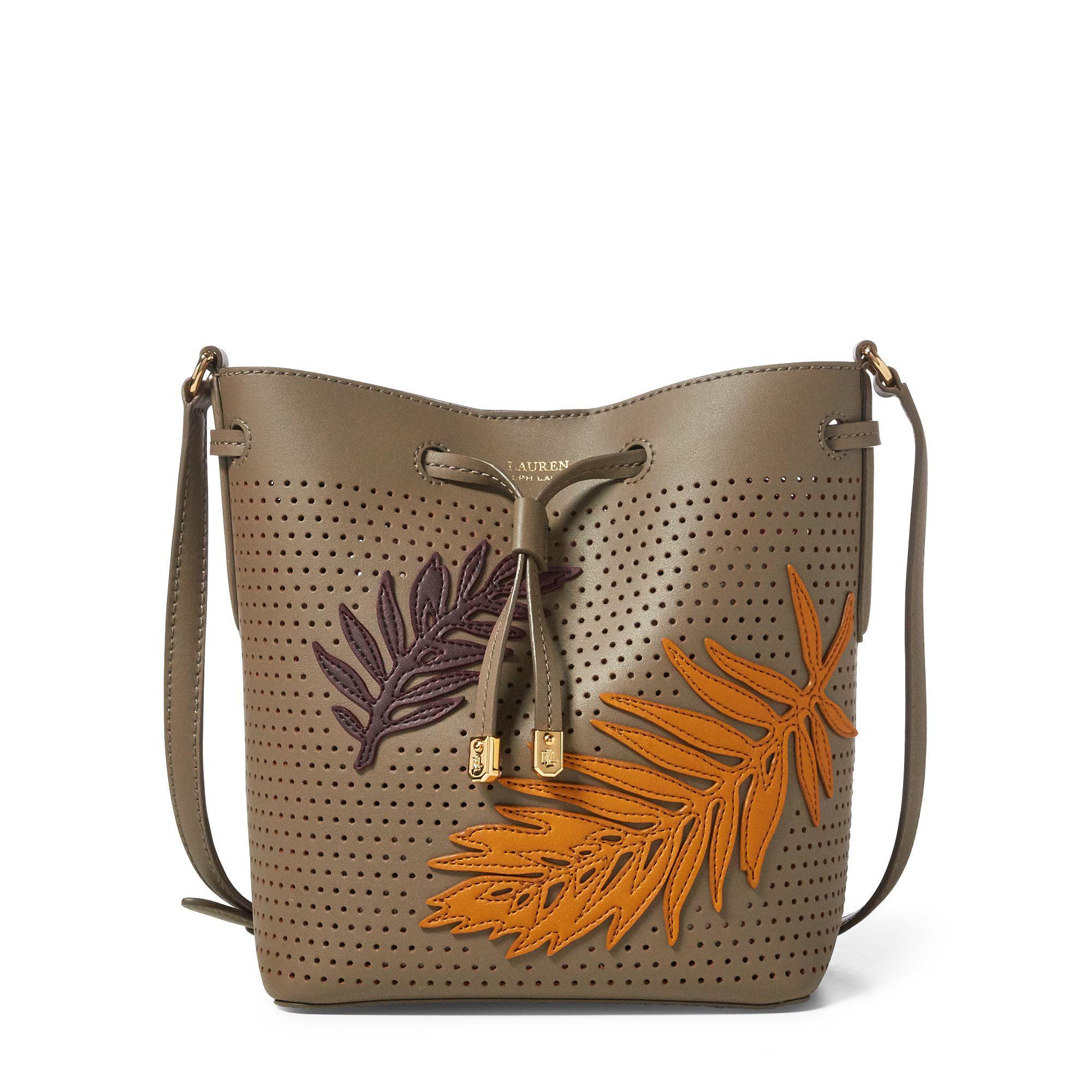 d294e1404594c Lyst - Ralph Lauren Leaf Debby Ii Drawstring Bag