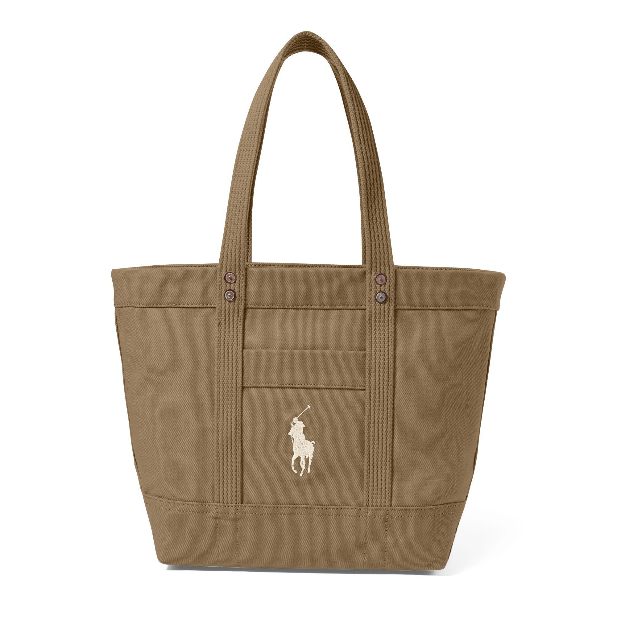a145e2630b29 Polo Ralph Lauren Canvas Big Pony Tote in Natural - Lyst
