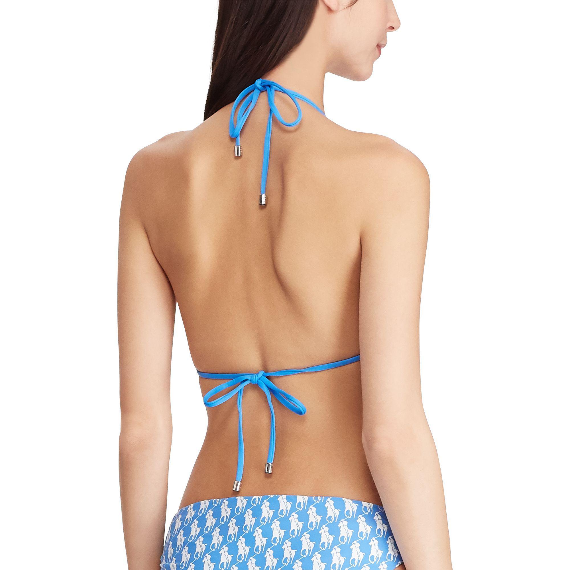 288e8994b2098 Polo Ralph Lauren - Blue Reversible Triangle Bikini Top - Lyst. View  fullscreen