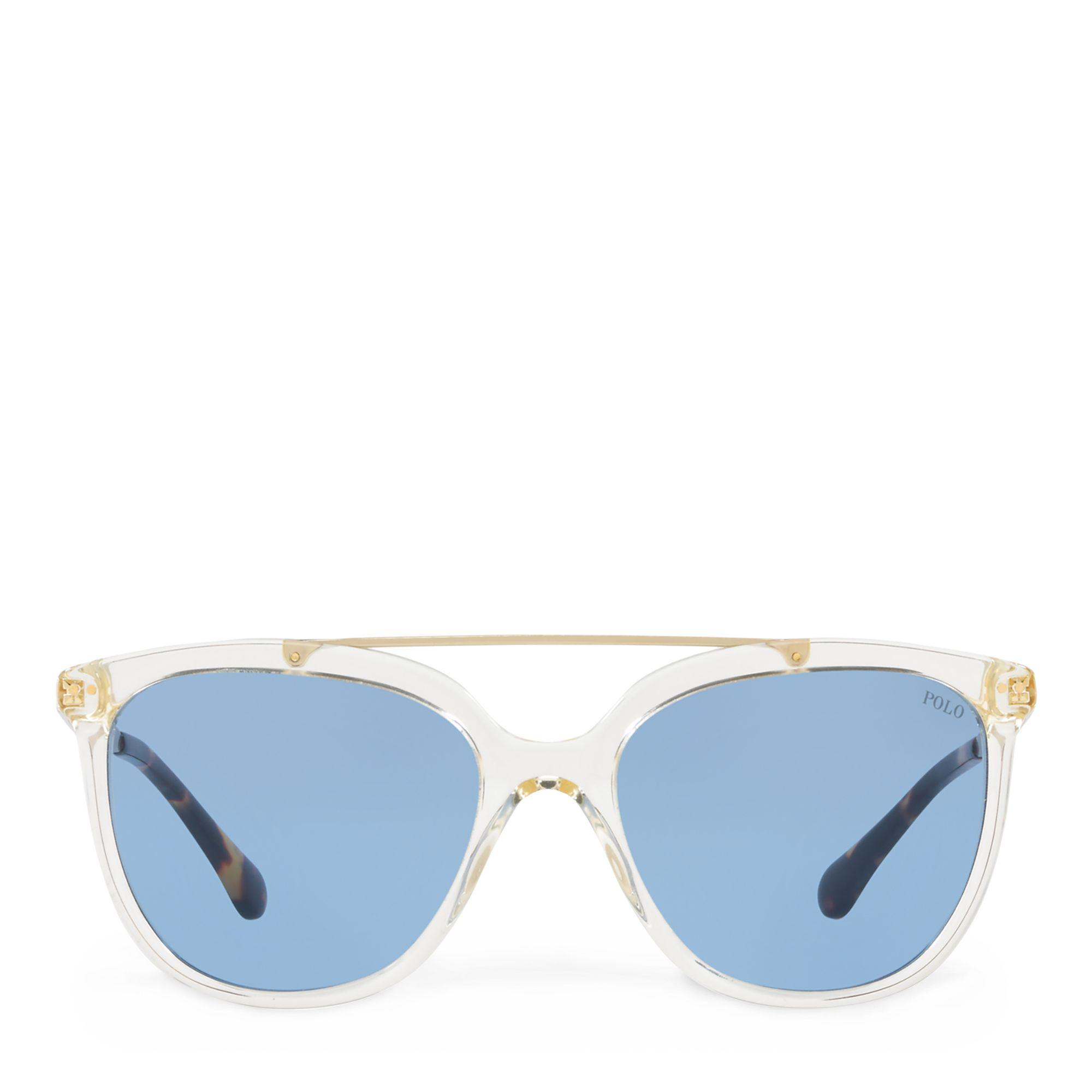 37557bcc885 Polo Ralph Lauren Metal-frame Square Sunglasses in Blue - Lyst