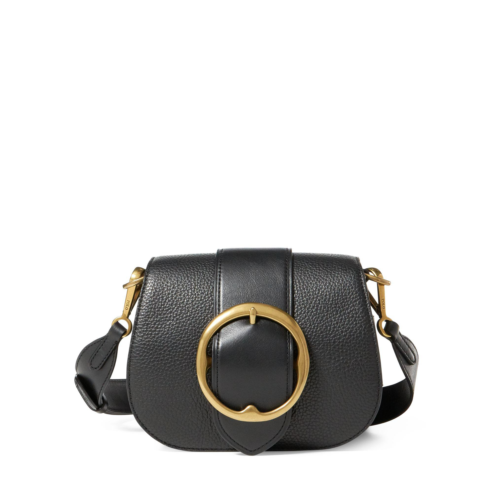 Lyst - Polo Ralph Lauren Pebbled Leather Lennox Bag in Black - Save 33% f9fe7d9f1b