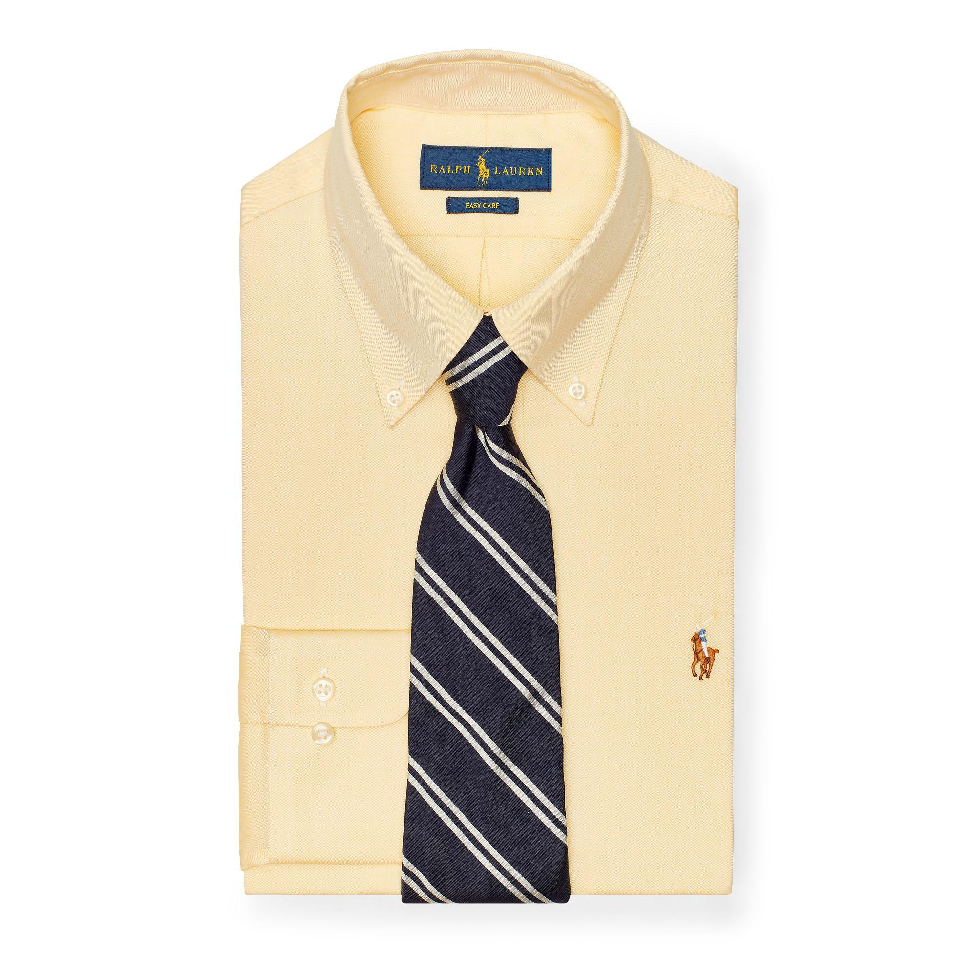 30f4e0ff1d0 Polo Ralph Lauren Custom Fit Oxford Shirt in Yellow for Men - Lyst