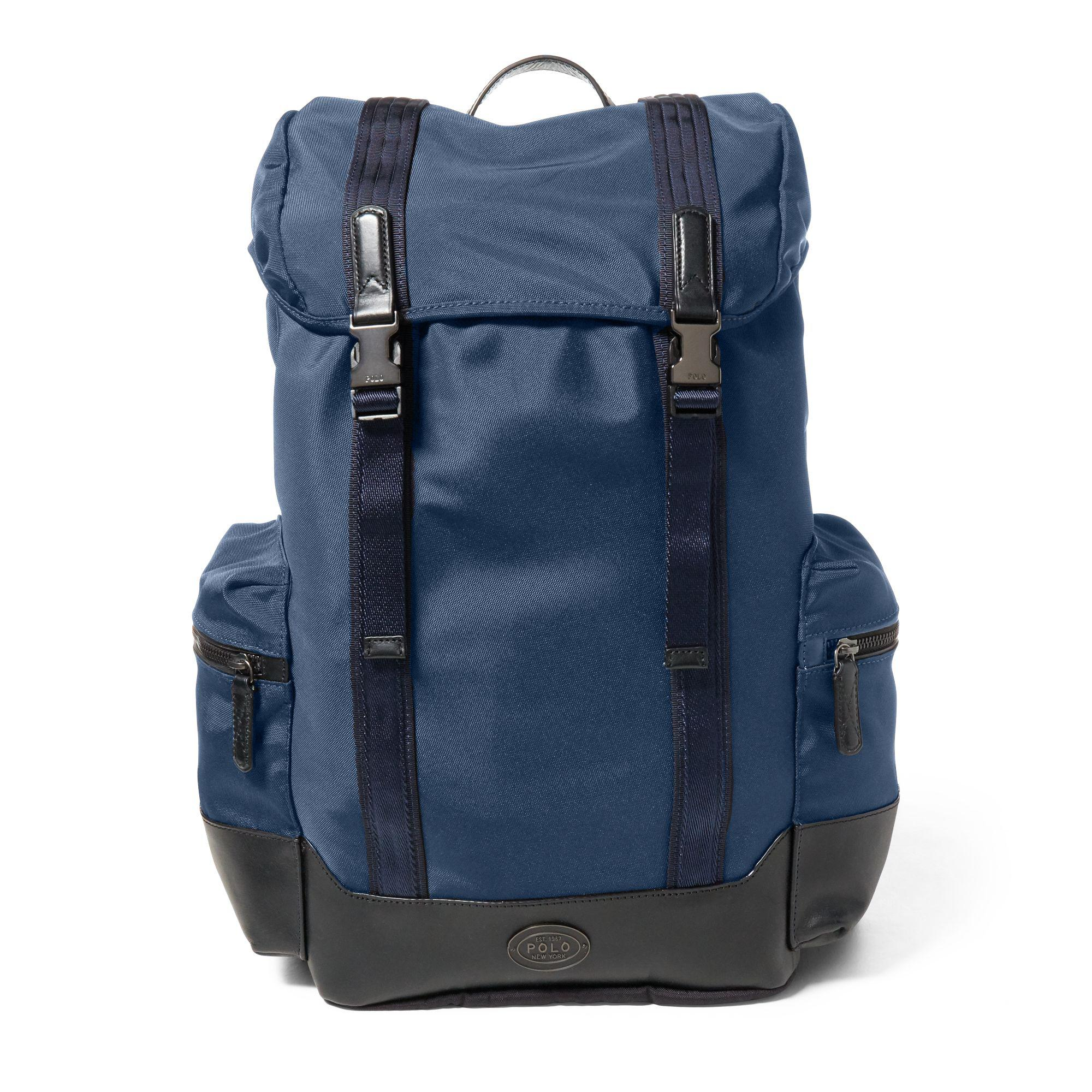 1cd8ff513e Polo Ralph Lauren Thompson Military Backpack in Blue for Men - Lyst
