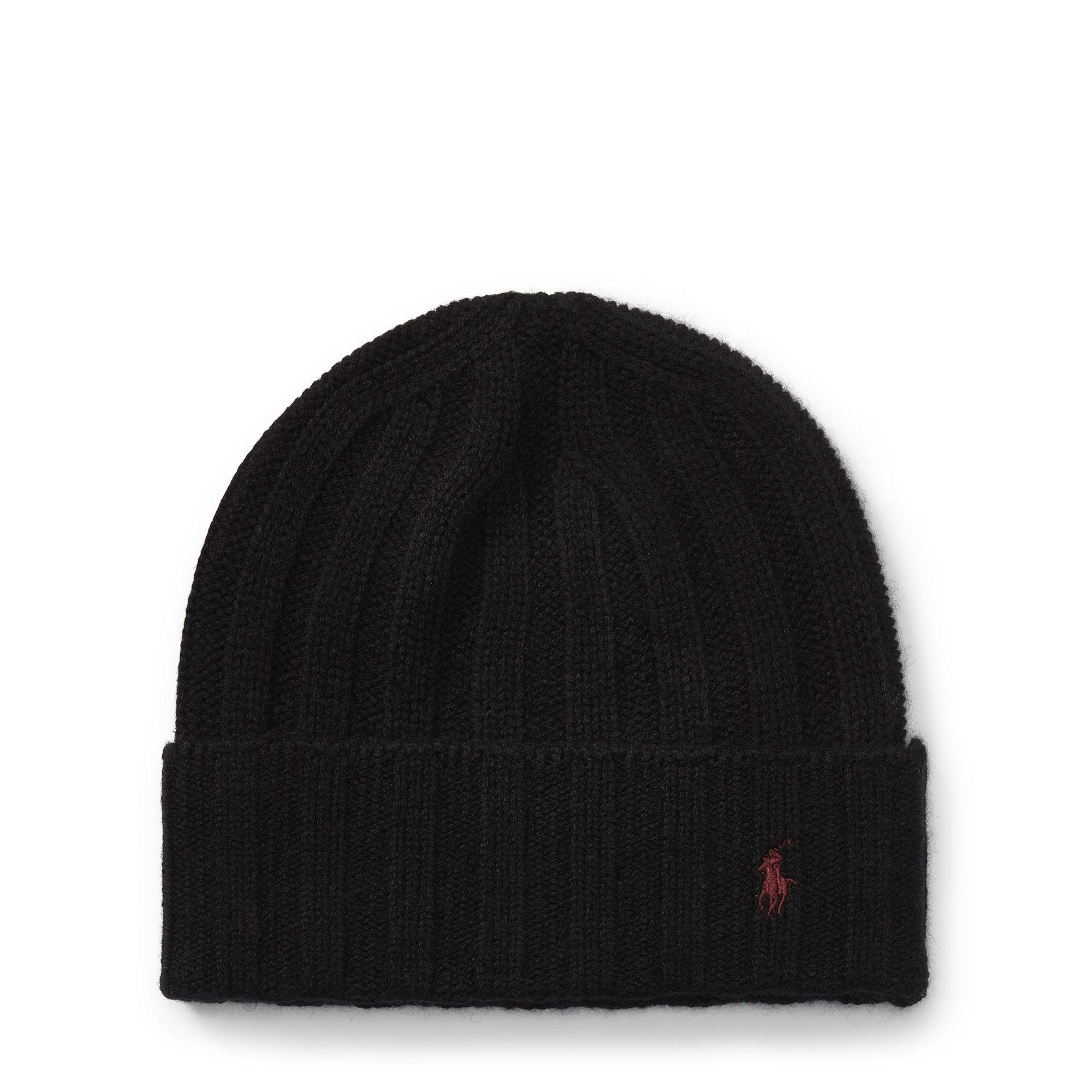 Lyst - Polo Ralph Lauren Wide-rib Cashmere-wool Cap in Black for Men 339e2f3c376a