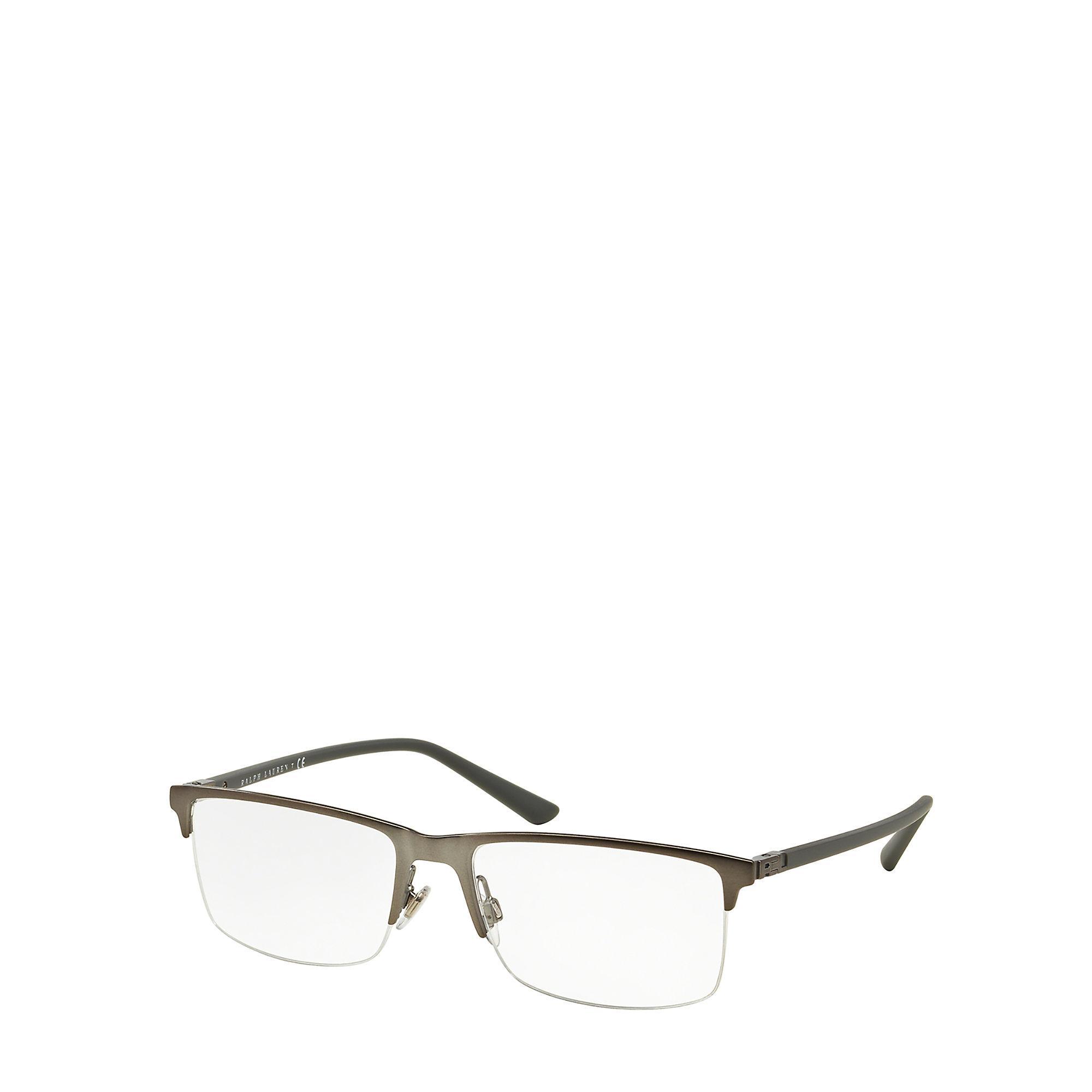 Pink Rimless Glasses : Pink pony Rl Hinge Rimless Eyeglasses in Metallic for Men ...