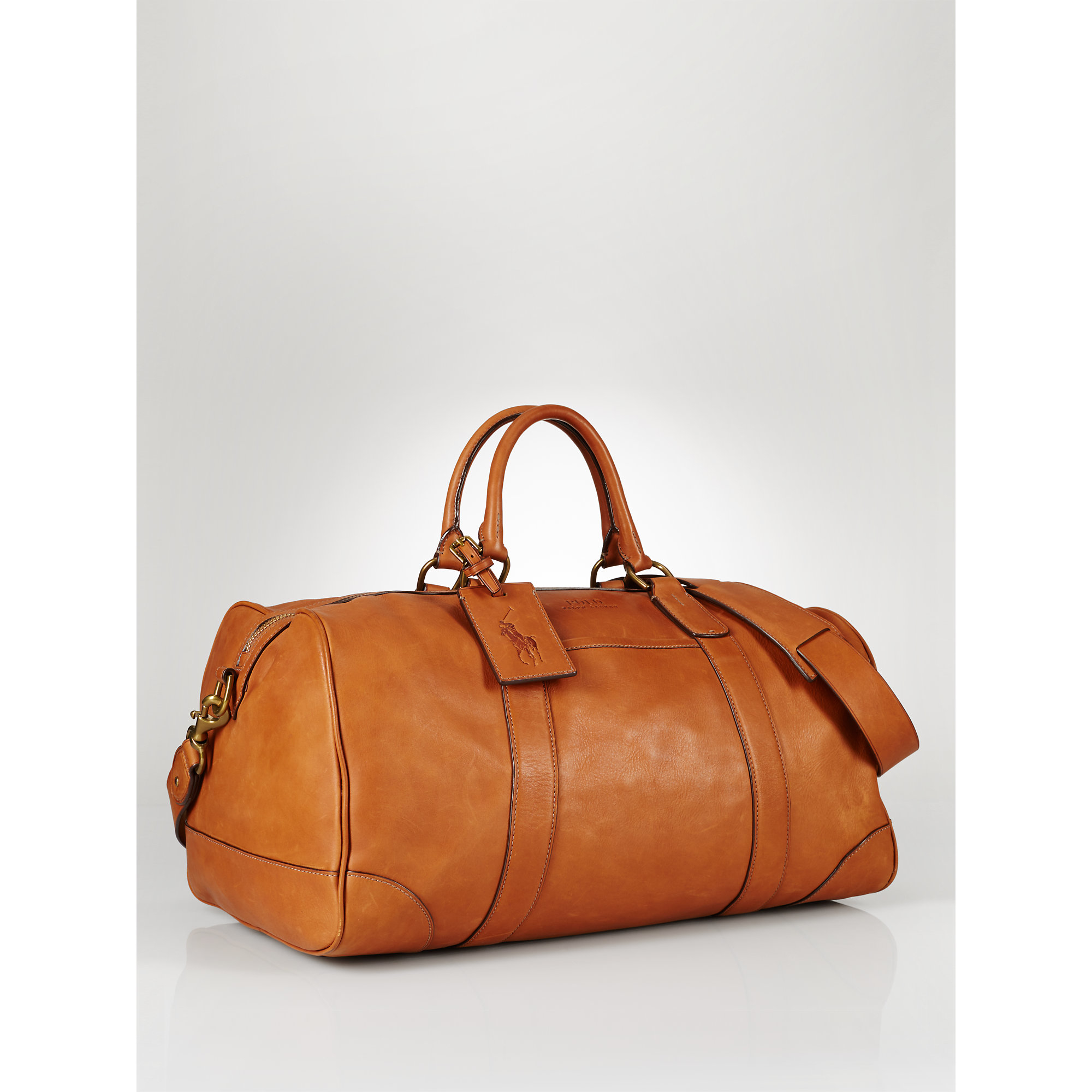 ... usa lyst polo ralph lauren leather duffel bag in brown for men f5023  50726 ... 7ac495d1e5068