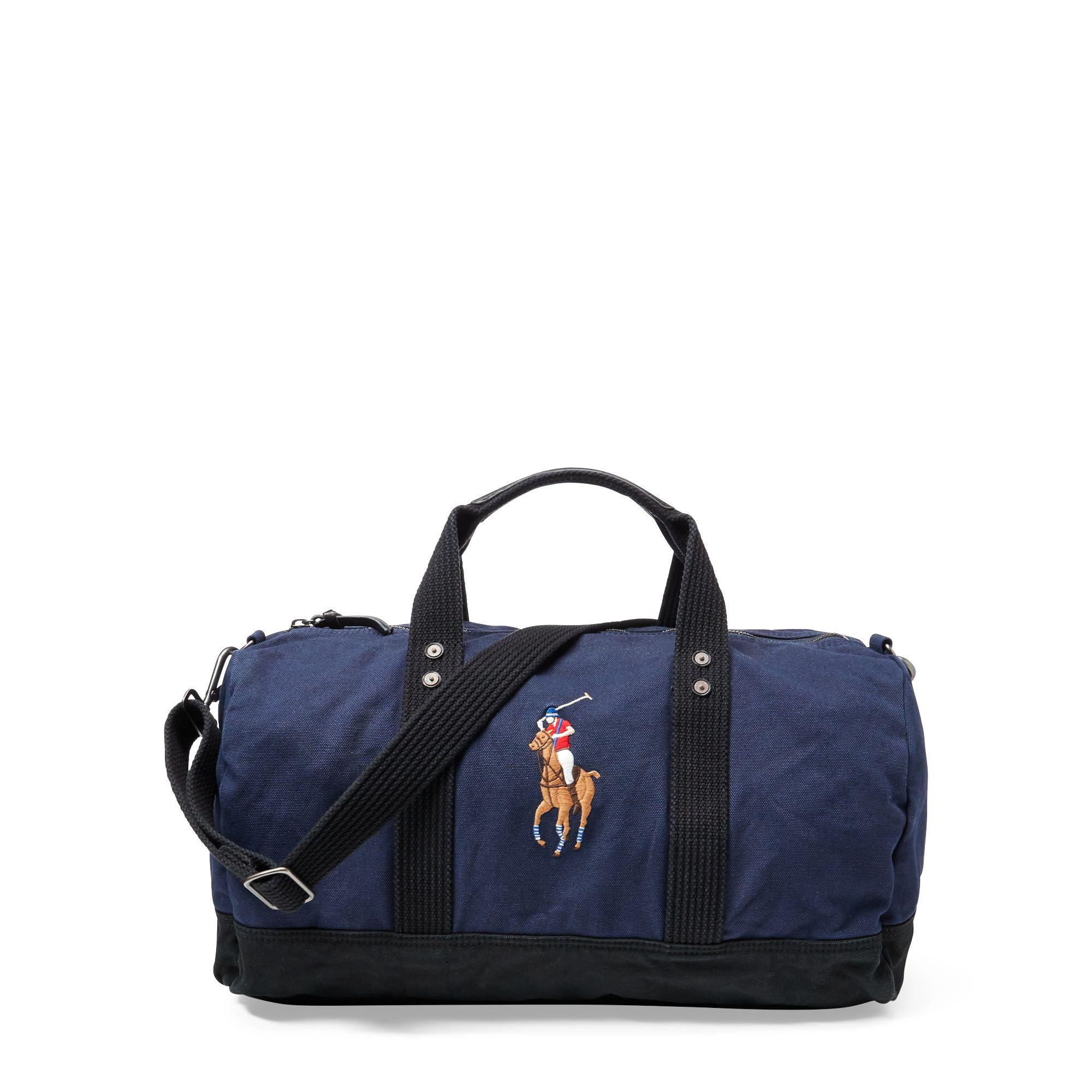 Polo Ralph Lauren. Men\u0027s Blue Canvas Big Pony Duffel Bag