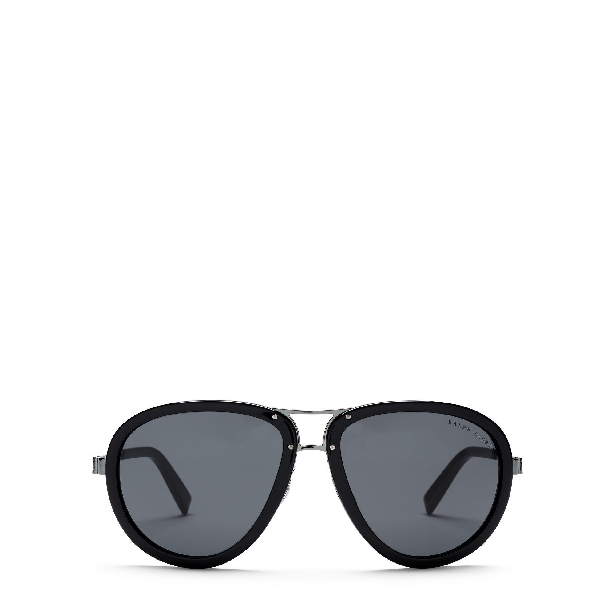 lyst polo ralph lauren piloten sonnenbrille automotive in black. Black Bedroom Furniture Sets. Home Design Ideas