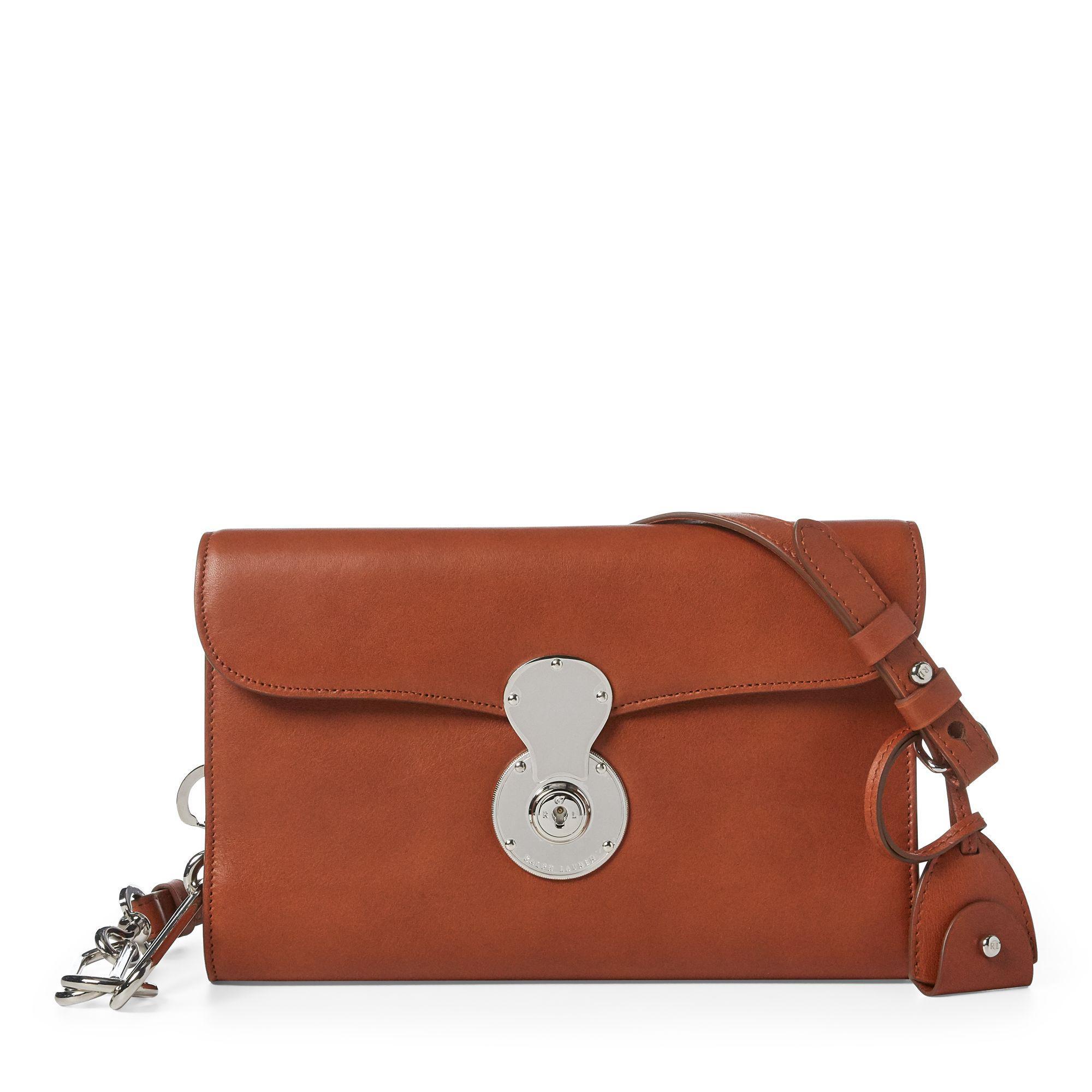 a2231ebf4b2f Ralph Lauren Leather Ricky Crossbody Bag in Brown - Lyst