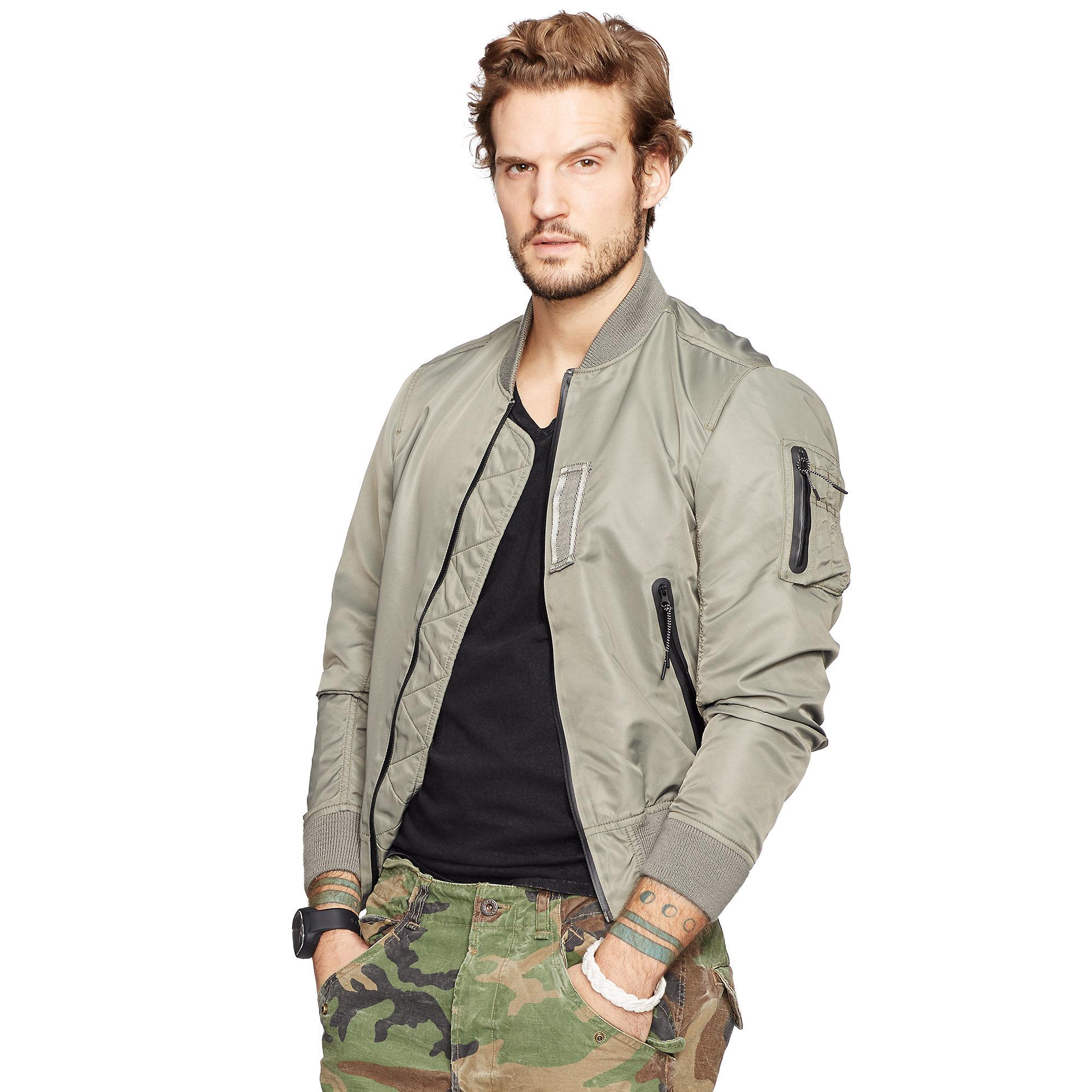 63b549106a85e Denim & Supply Ralph Lauren Twill Bomber Jacket in Gray for Men - Lyst