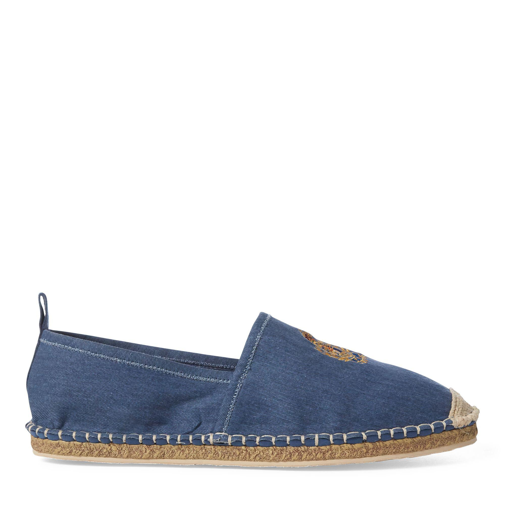 In Barron Polo Espadrille Crested Blue Lyst Ralph Lauren Men For qwEEx1XSn