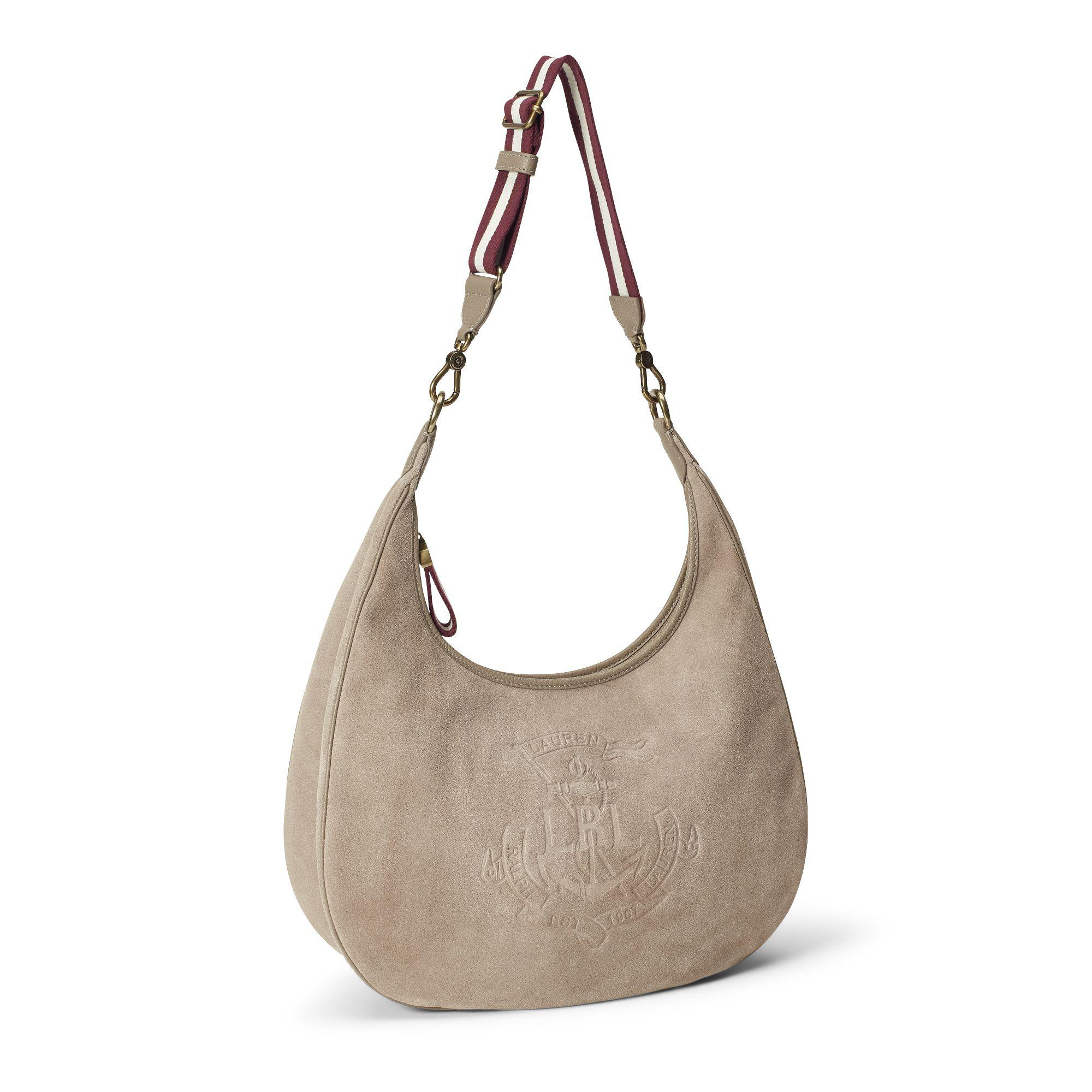 9eef3e6503 Ralph Lauren - Multicolor Anchor Suede Hobo Bag - Lyst. View fullscreen