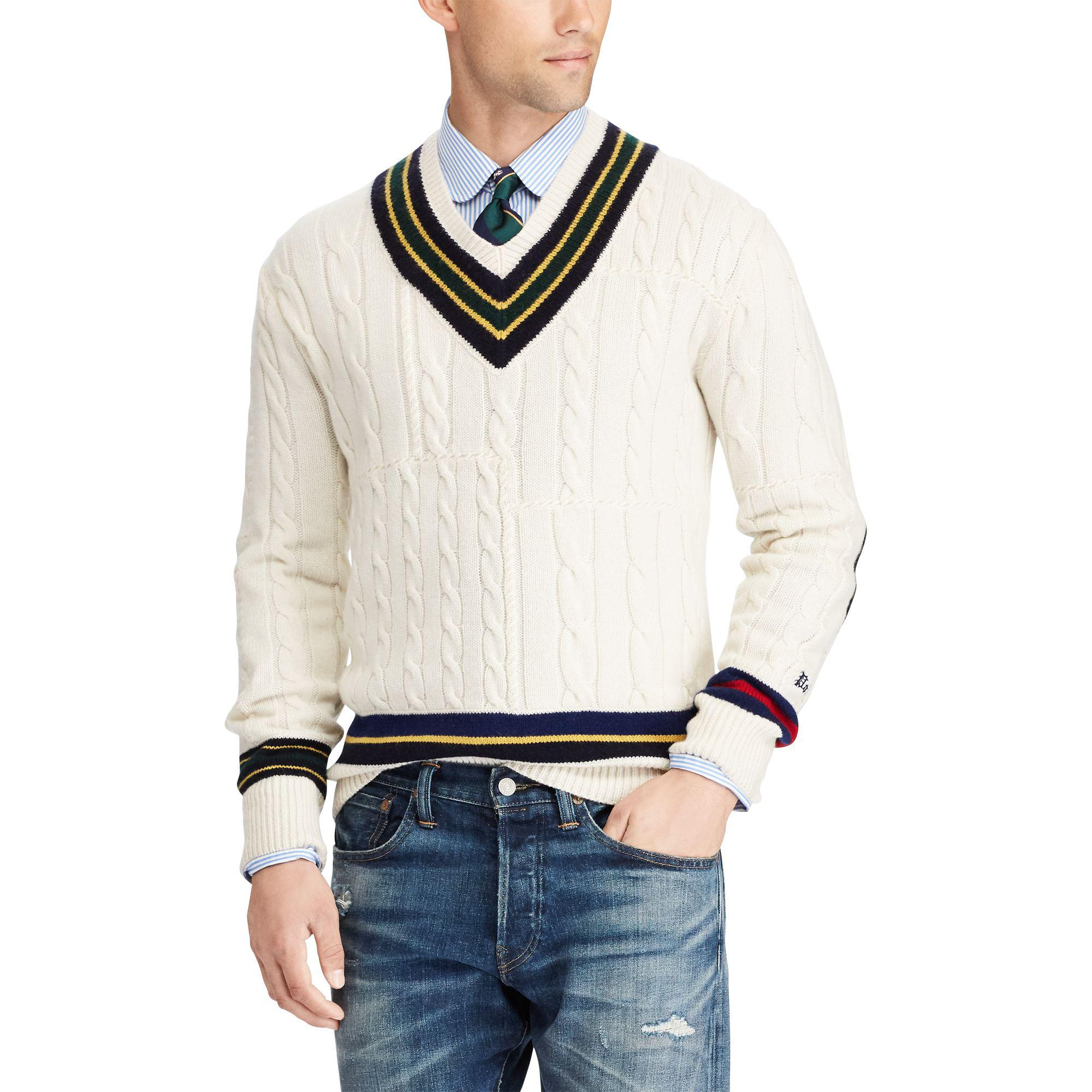 170d7f34669 ... order polo ralph lauren the iconic cricket sweater for men lyst 7214a  185d7