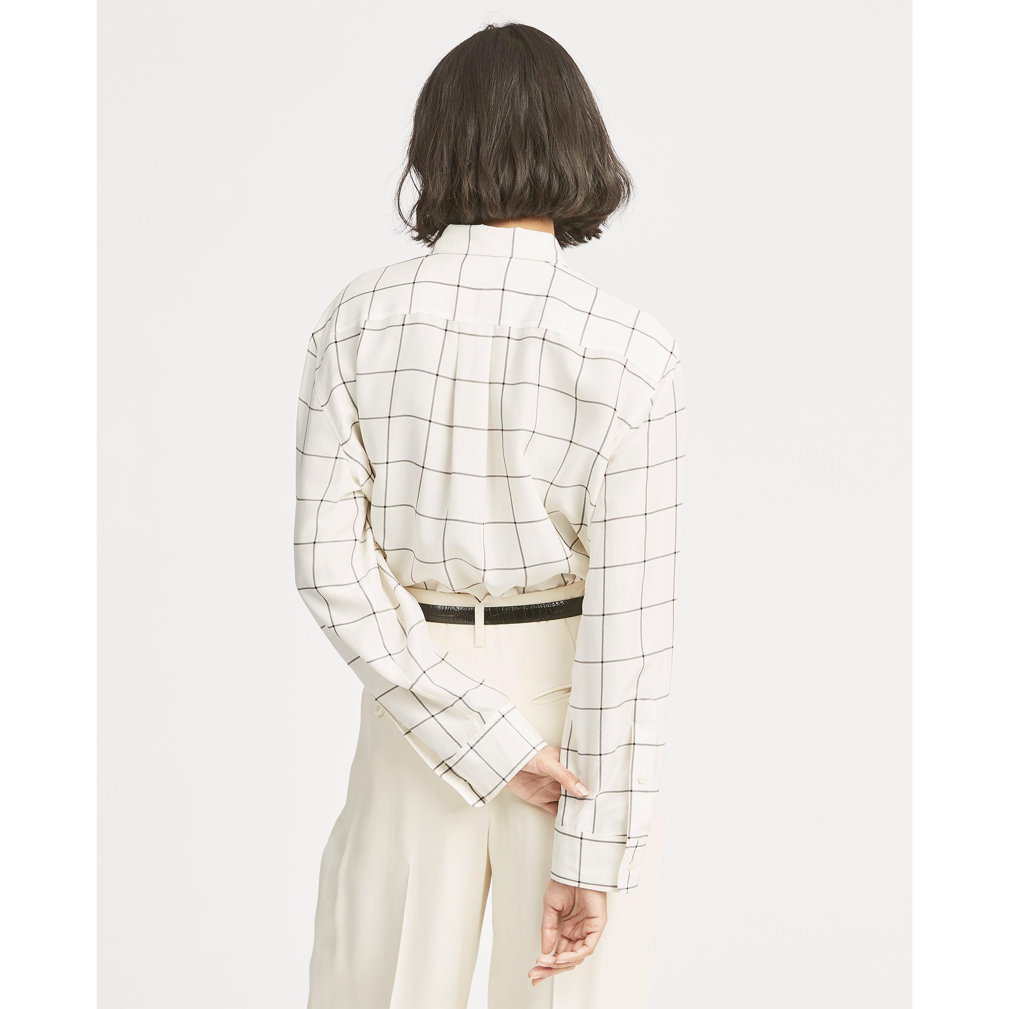 c5f172d6e95fdf ... Plaid Silk Broadcloth Shirt - Lyst. View fullscreen