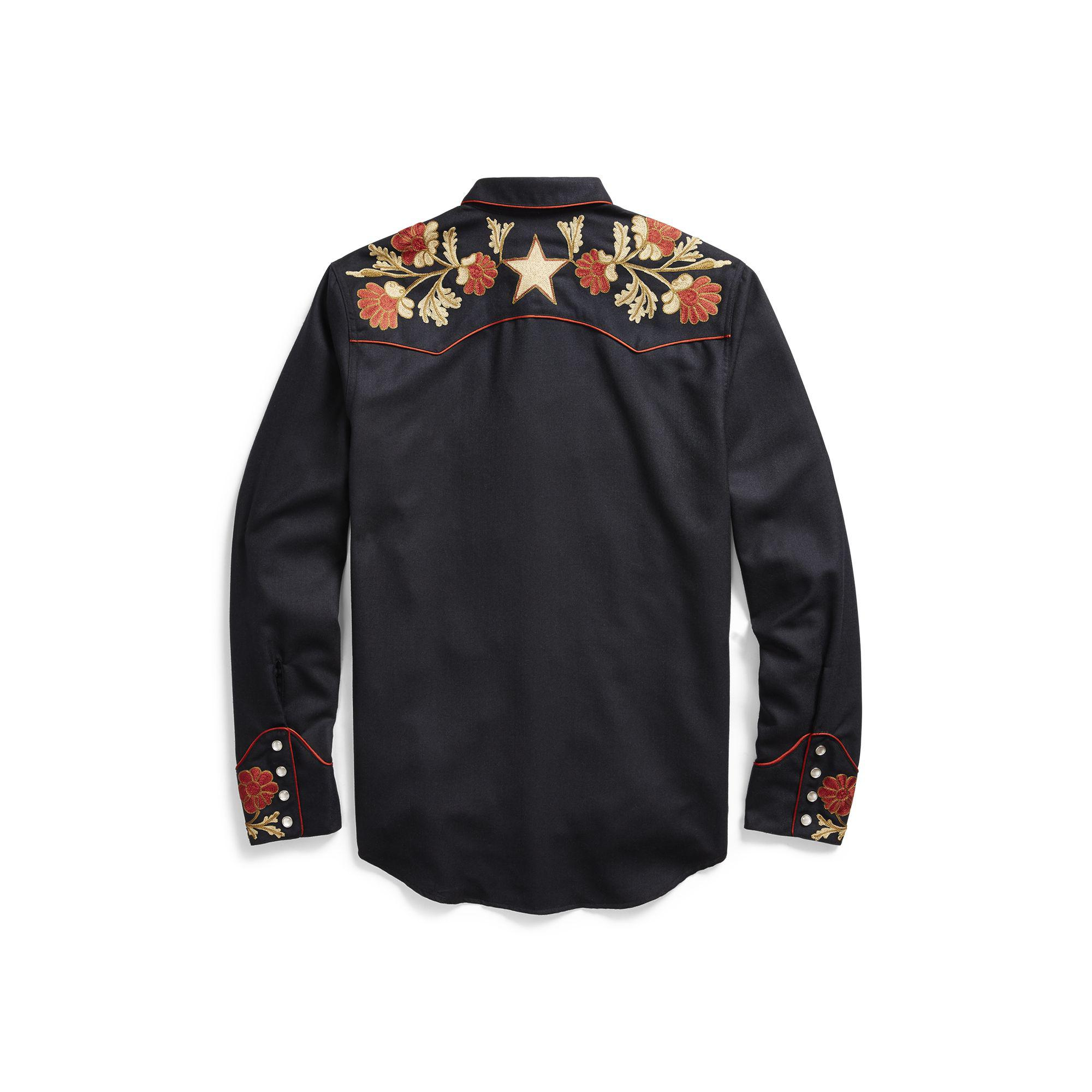 157b5317 RRL Limited-edition Cline Shirt in Black for Men - Lyst