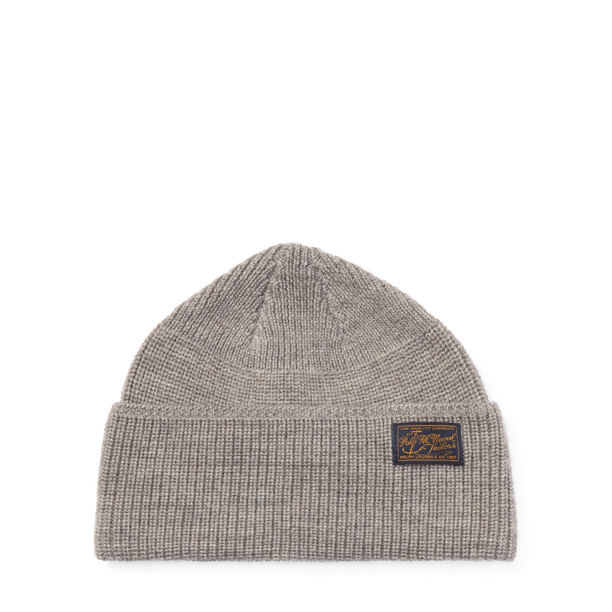 839423d6e0e Lyst - Polo Ralph Lauren Naval-brim Knit Hat in Gray for Men