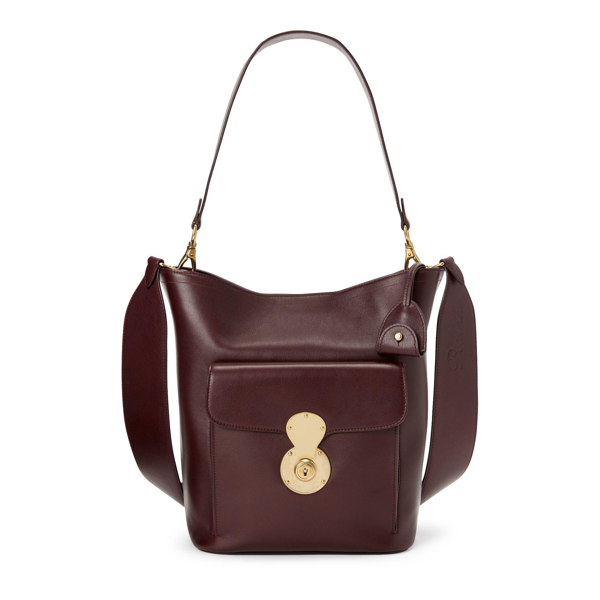Ralph Lauren The Calfskin Rl Bucket Bag - Lyst 084a0a8e5c618