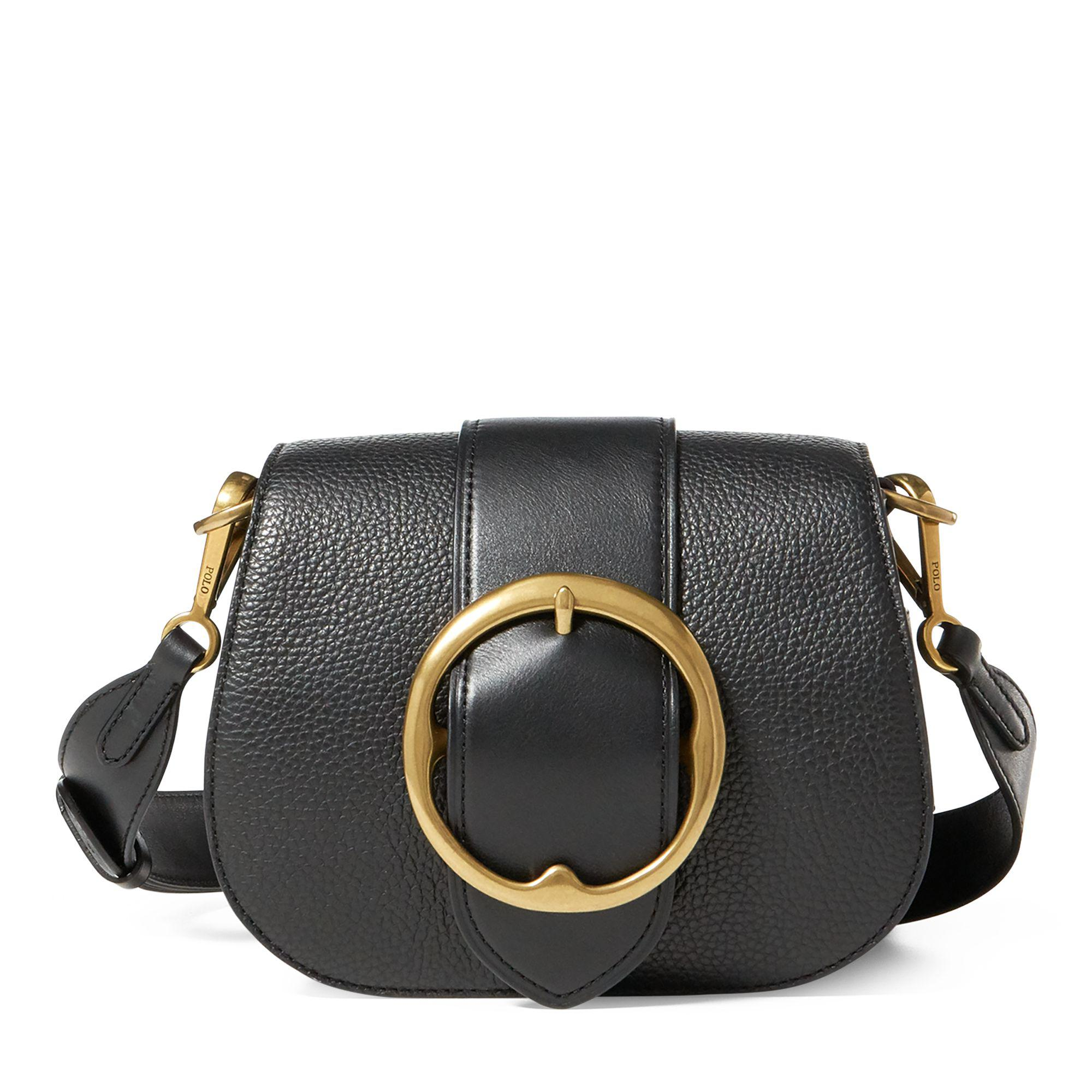 9a21cab142 Polo Ralph Lauren Pebbled Leather Lennox Bag in Black - Save ...