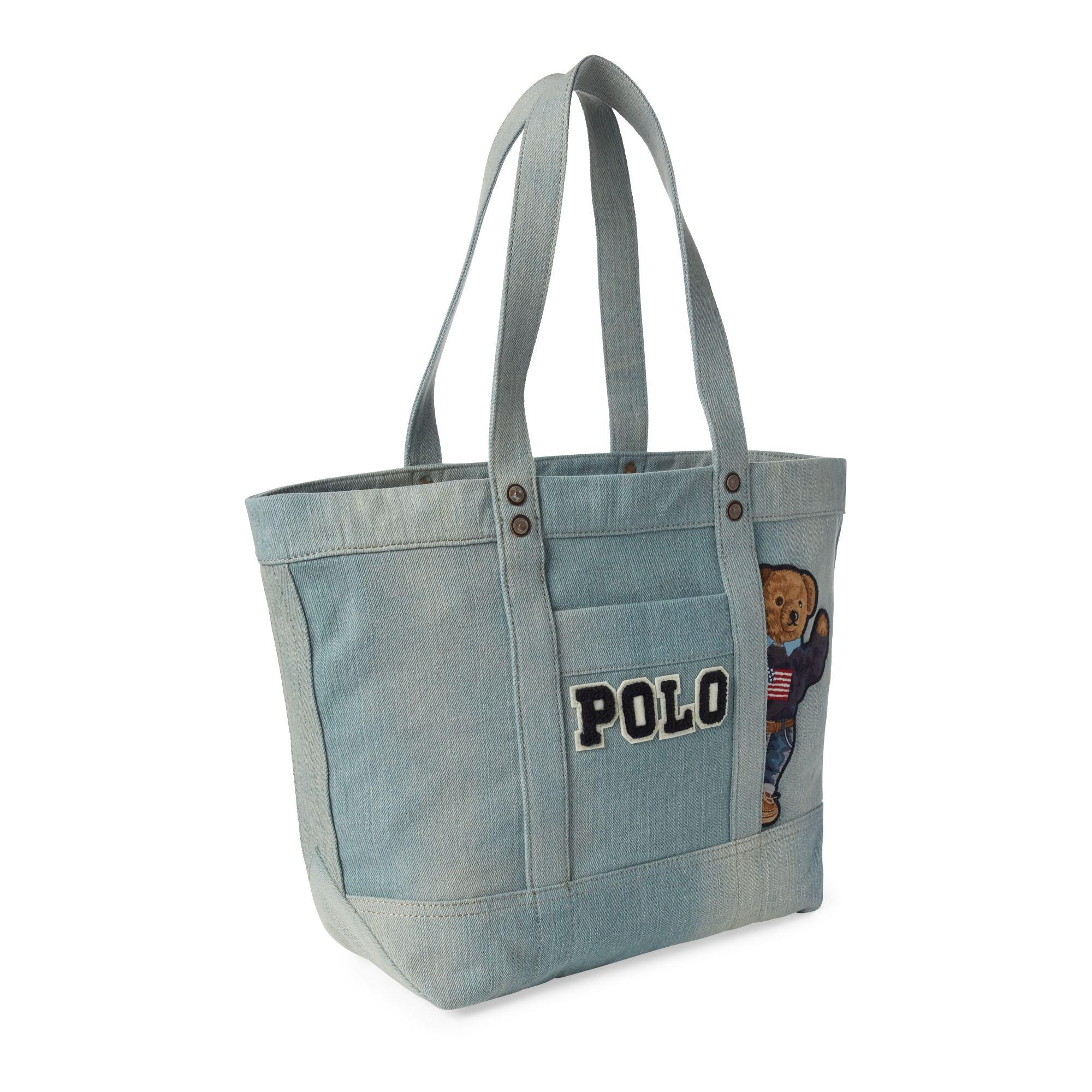 Polo Ralph Lauren - Blue Canvas Polo Bear Tote Bag - Lyst. View fullscreen 855df6133d