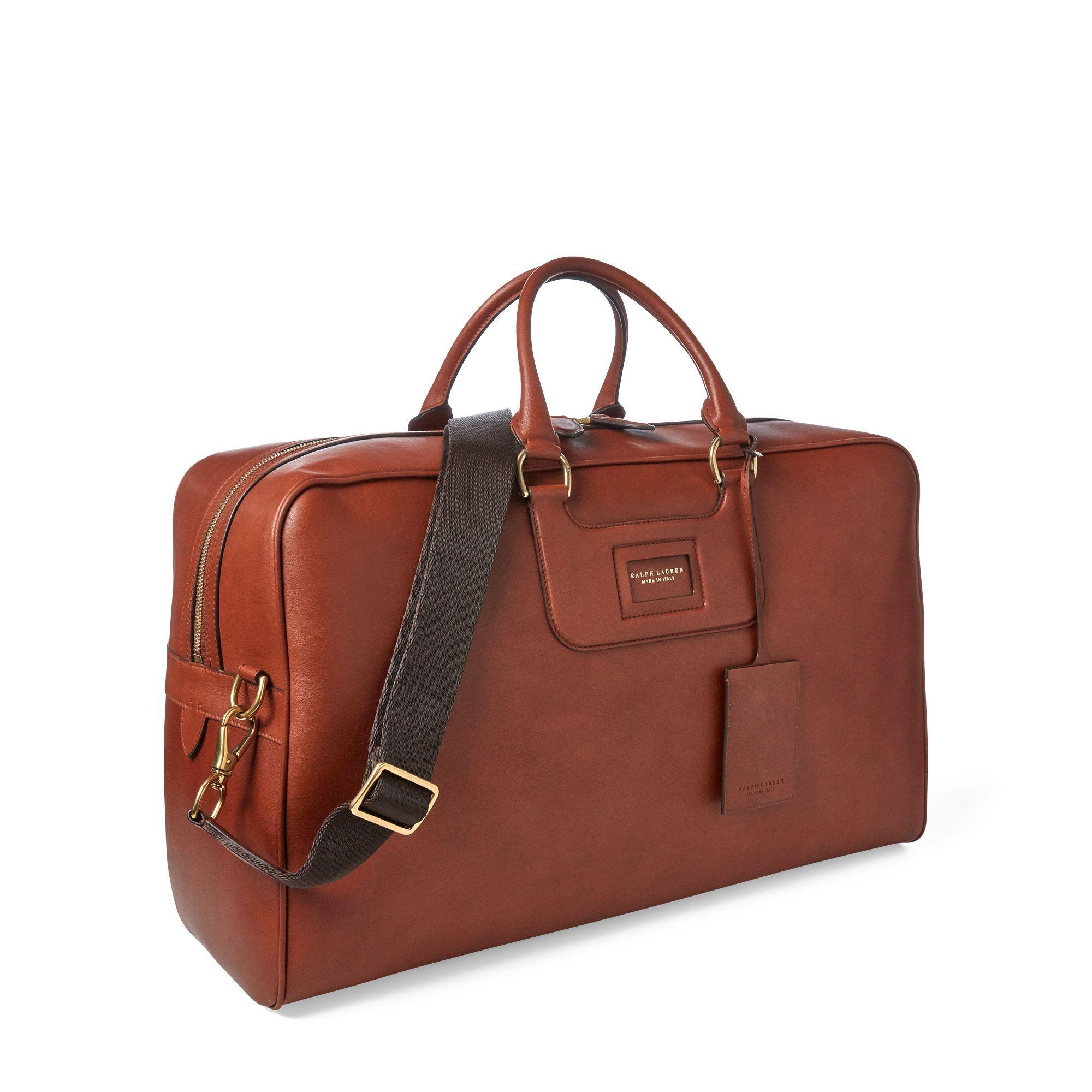 77891347321e Ralph Lauren Purple Label - Brown Calfskin Duffel Bag for Men - Lyst. View  fullscreen