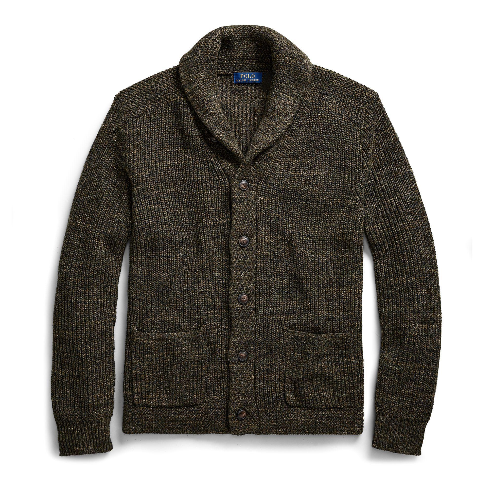 8214a4e43 Polo Ralph Lauren Cotton Shawl-collar Cardigan in Green for Men - Lyst