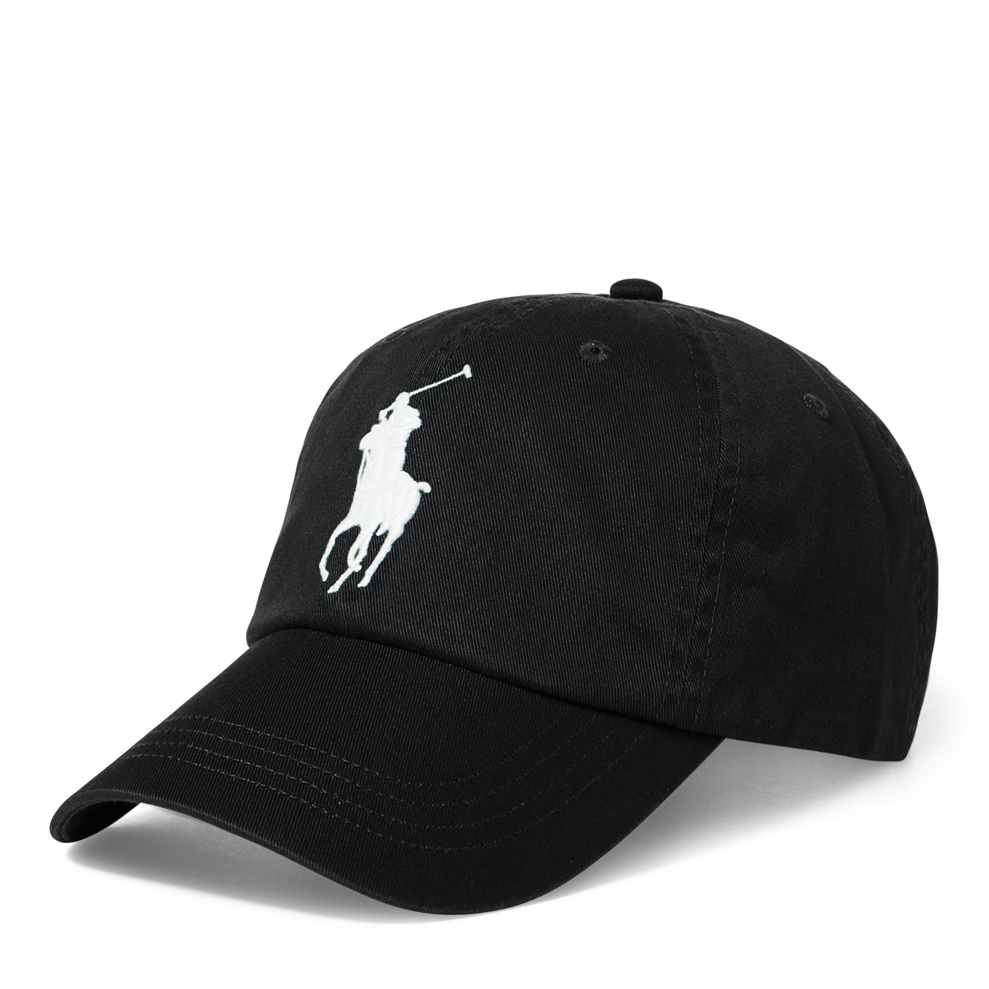 8ddcc73c3fb Polo Ralph Lauren Cotton Chino Baseball Cap in Black for Men - Save ...