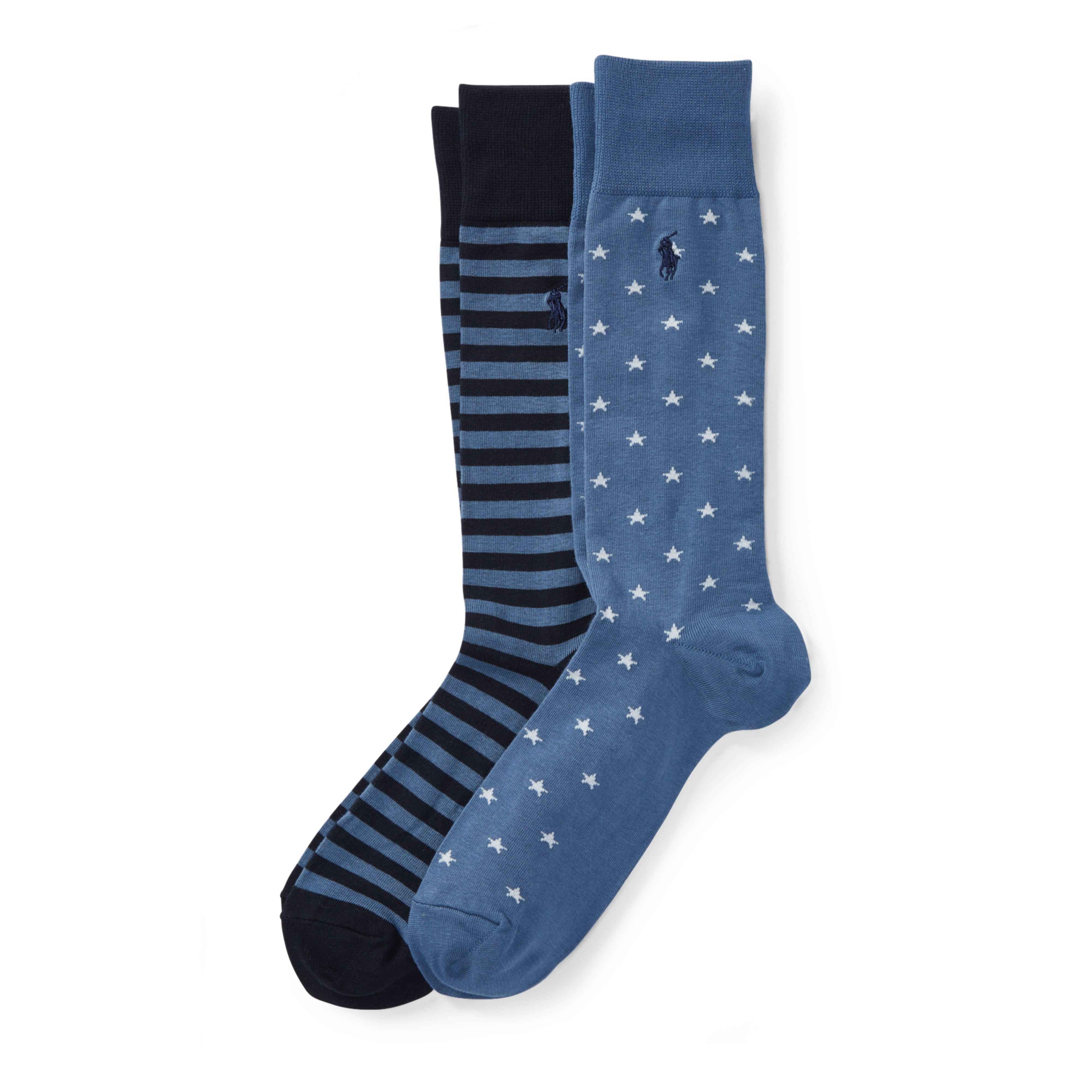 6fe8e6e7c86b Lyst - Polo Ralph Lauren Stars   Stripes Sock 2-pack in Blue for Men