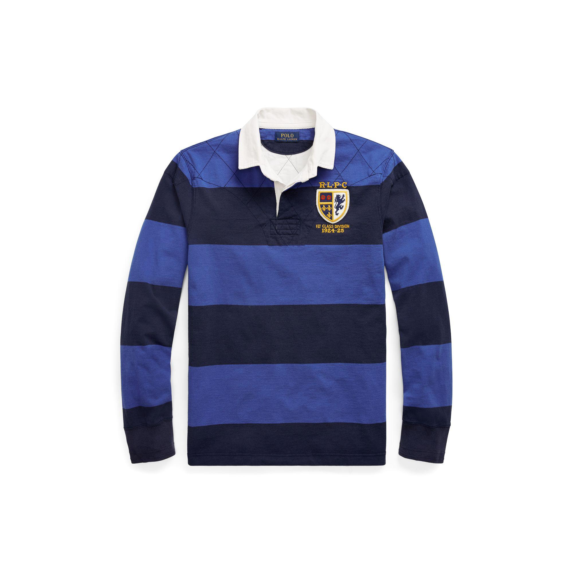 64d2d8fd97f Polo Ralph Lauren Custom Fit Navy Rugby Shirt - DREAMWORKS