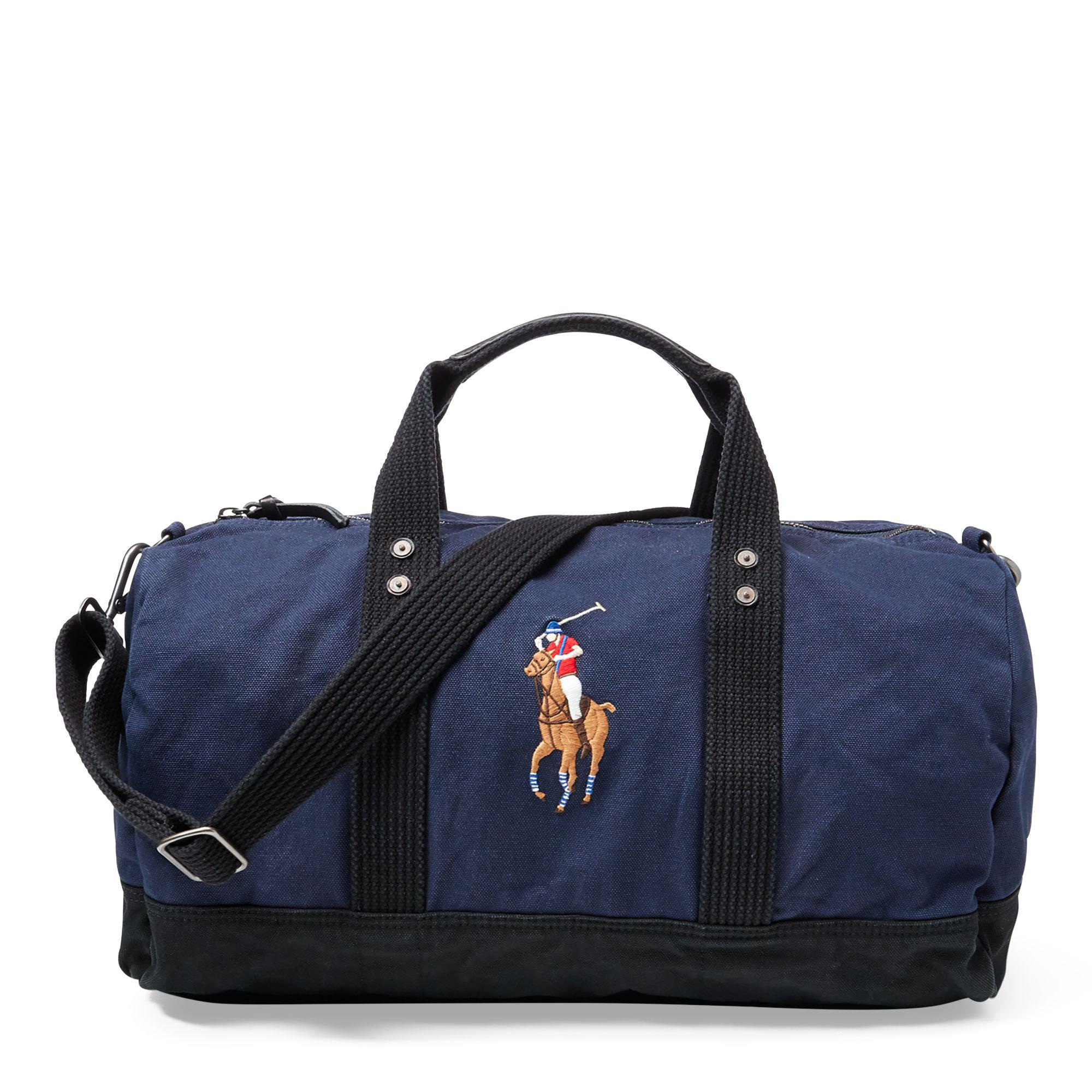 Polo Ralph Lauren Canvas Big Pony Duffel Bag in Blue for Men - Lyst 05aedc3a3304e