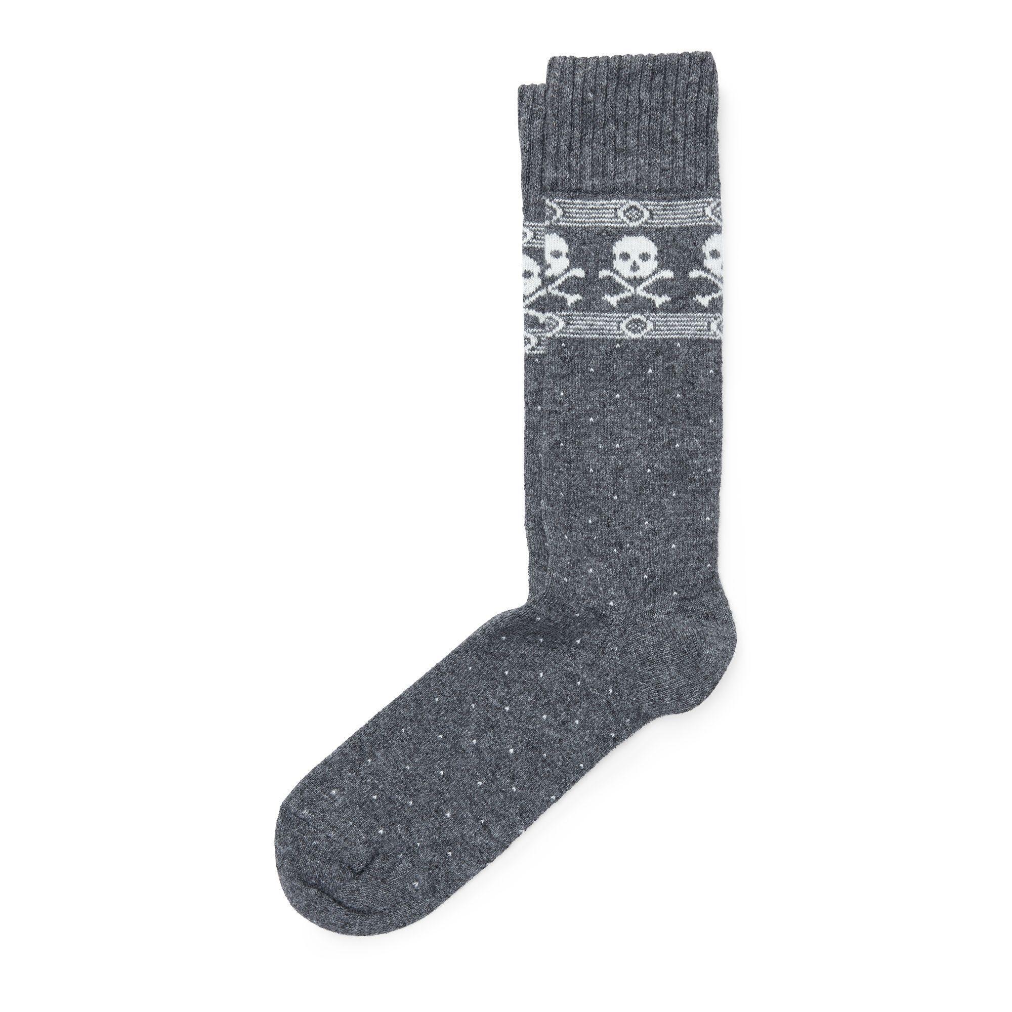 6612ba8fd1462 Lyst - Polo Ralph Lauren Skull Cashmere-blend Socks in Gray for Men