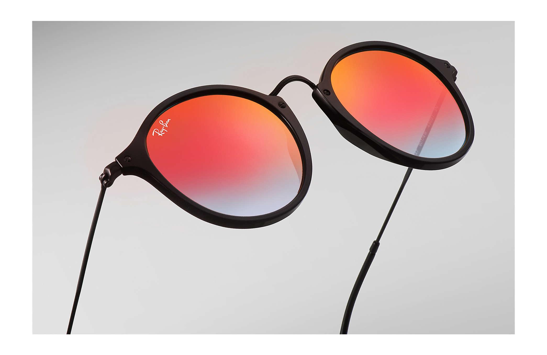 29167532c Ray-Ban - Black Round Fleck Flash Lenses Gradient - Lyst. View fullscreen