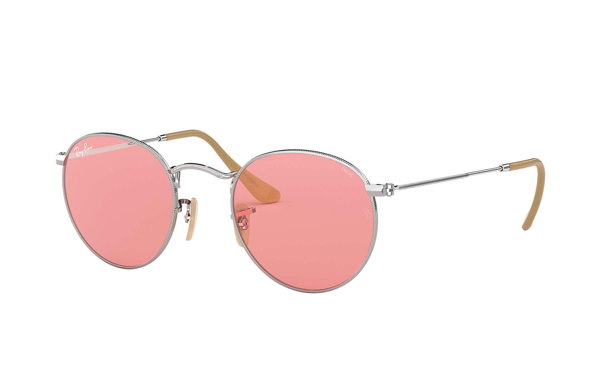 cfcbda86dc Lyst - Ray-Ban Round Evolve in Pink for Men