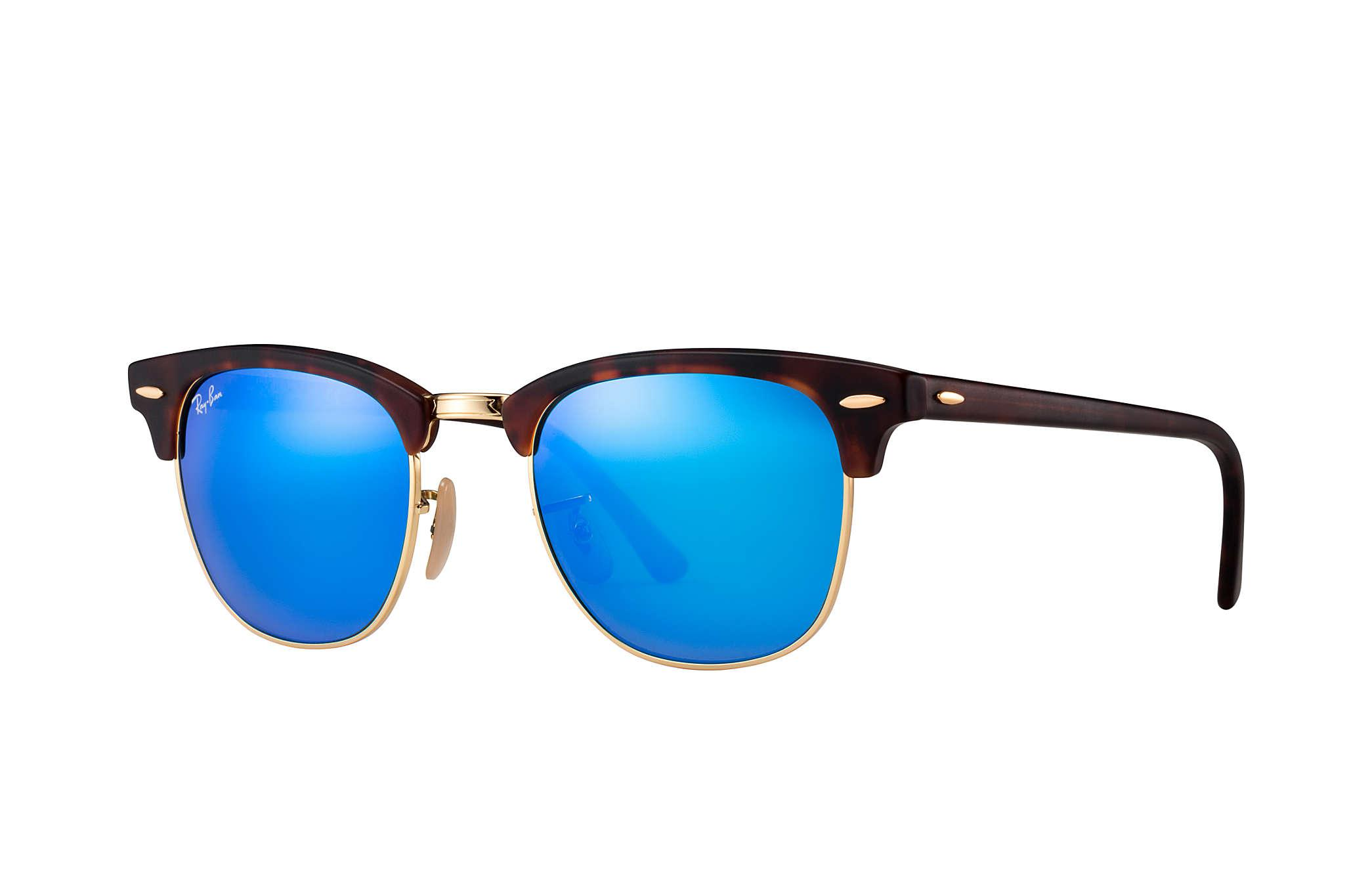 5b1c2d89cb Lyst - Ray-Ban Clubmaster Flash Lenses in Blue