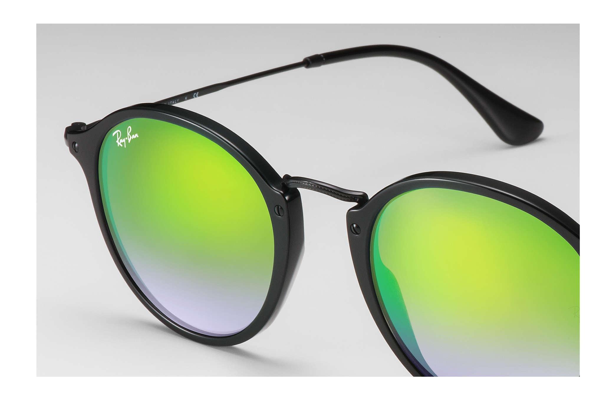5a1d40567e Ray-Ban - Green Round Fleck Flash Lenses Gradient - Lyst. View fullscreen