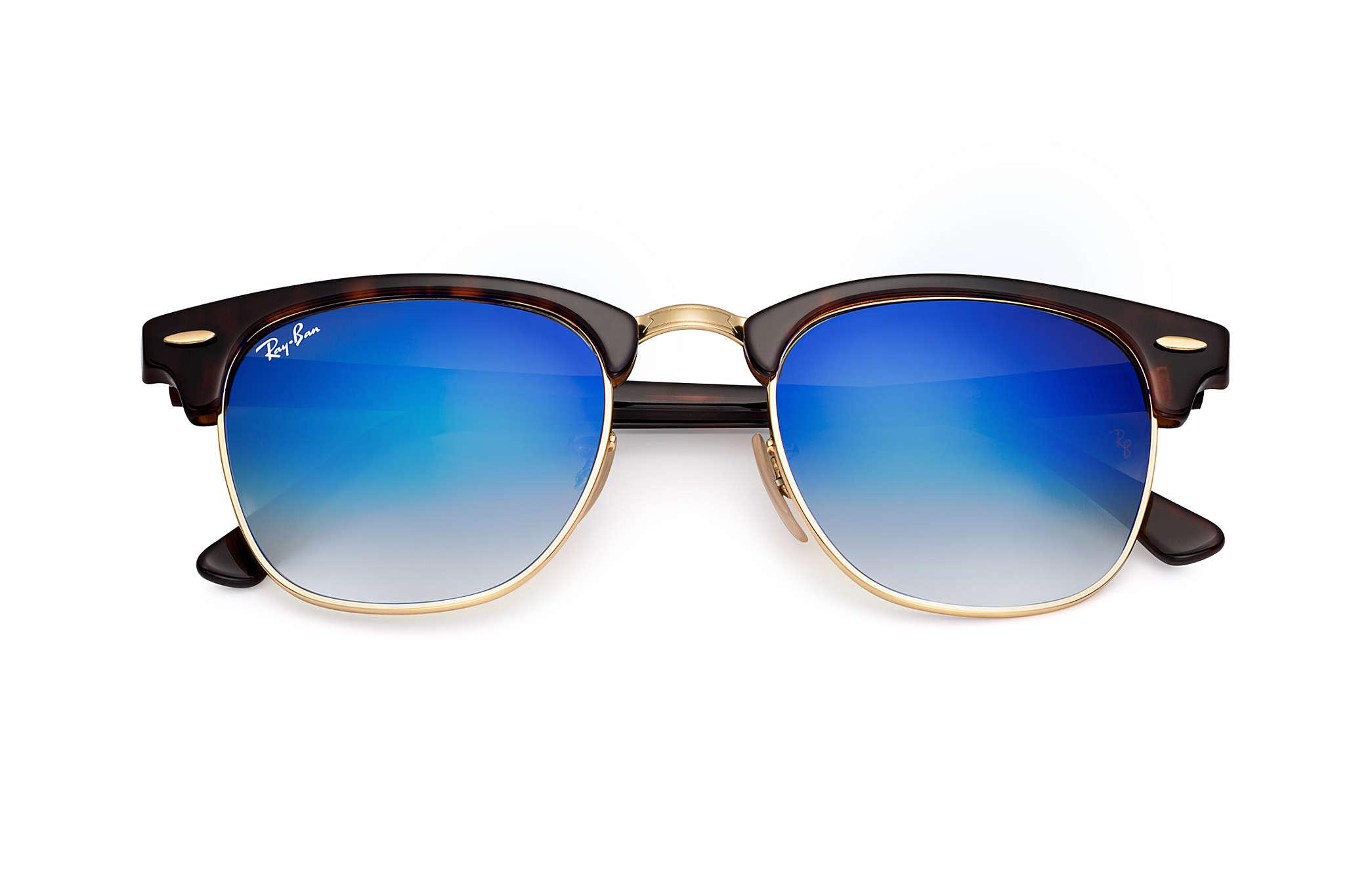 aa673b11a8 Ray-Ban Clubmaster Flash Lenses Gradient in Blue - Lyst