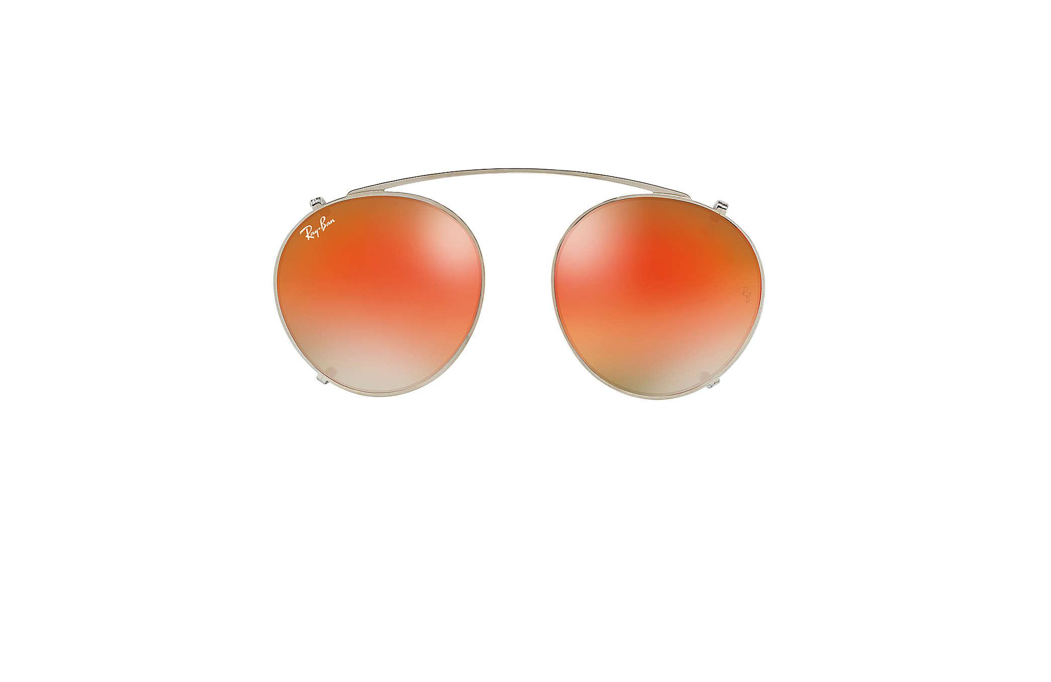 Lyst - Ray-Ban Round Fleck Clip-on in Orange for Men 89100bd66e