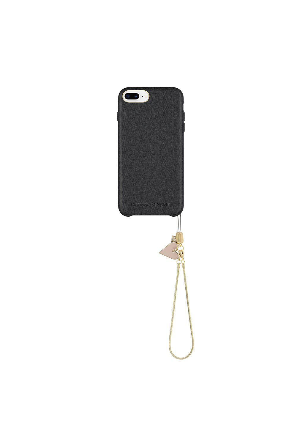 27c9ae0fb16c Rebecca Minkoff Leather Wrapped Case With Heart Charm Iphone 8 Plus ...