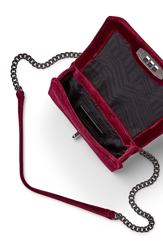 0381ccfc6 Shops Rebecca Minkoff Soft Pink Velvet Small Love Crossbody Bag