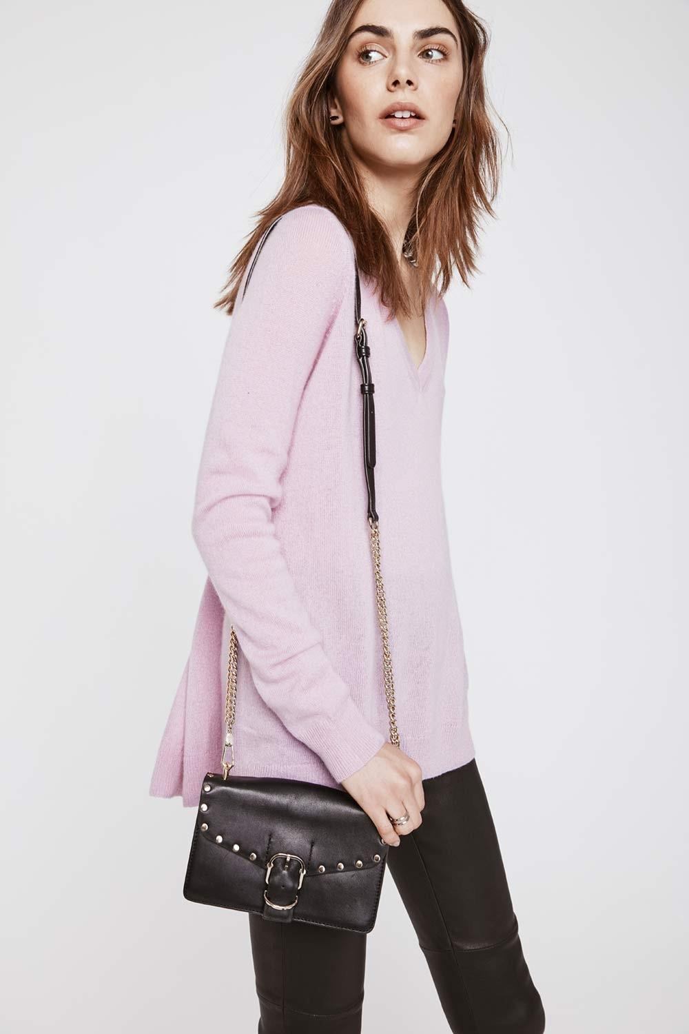 Rebecca minkoff Danielle Sweater in Purple | Lyst