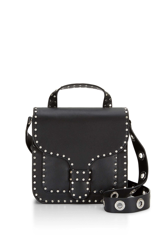 Rebecca Minkoff Midnighter Top Handle Feed Bag In Black Lyst