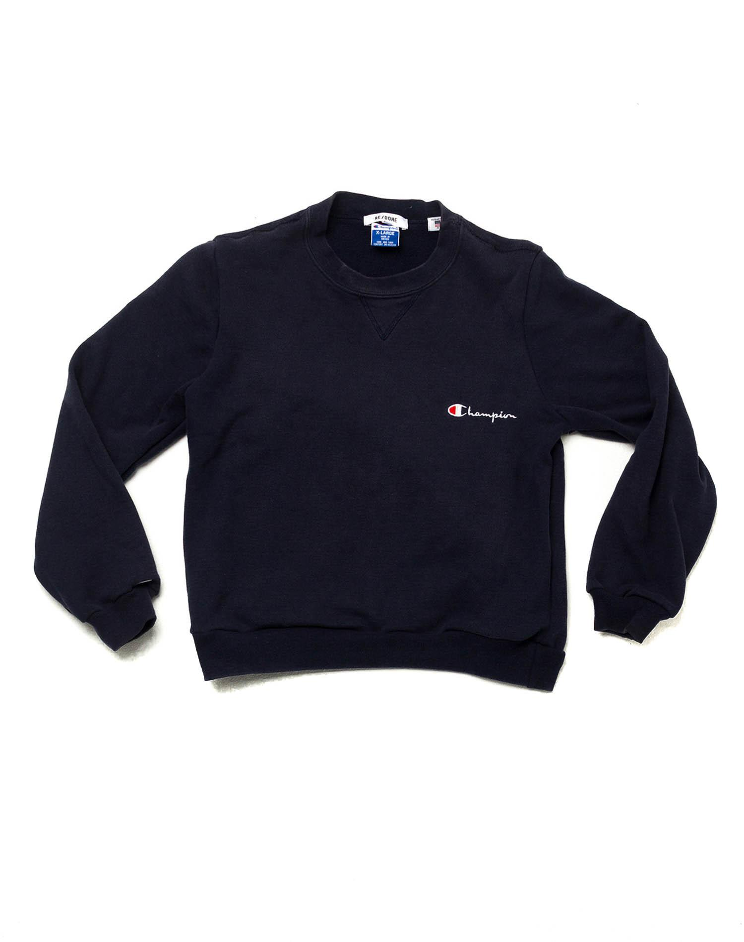 Re/done Champion Crewneck in Blue for Men