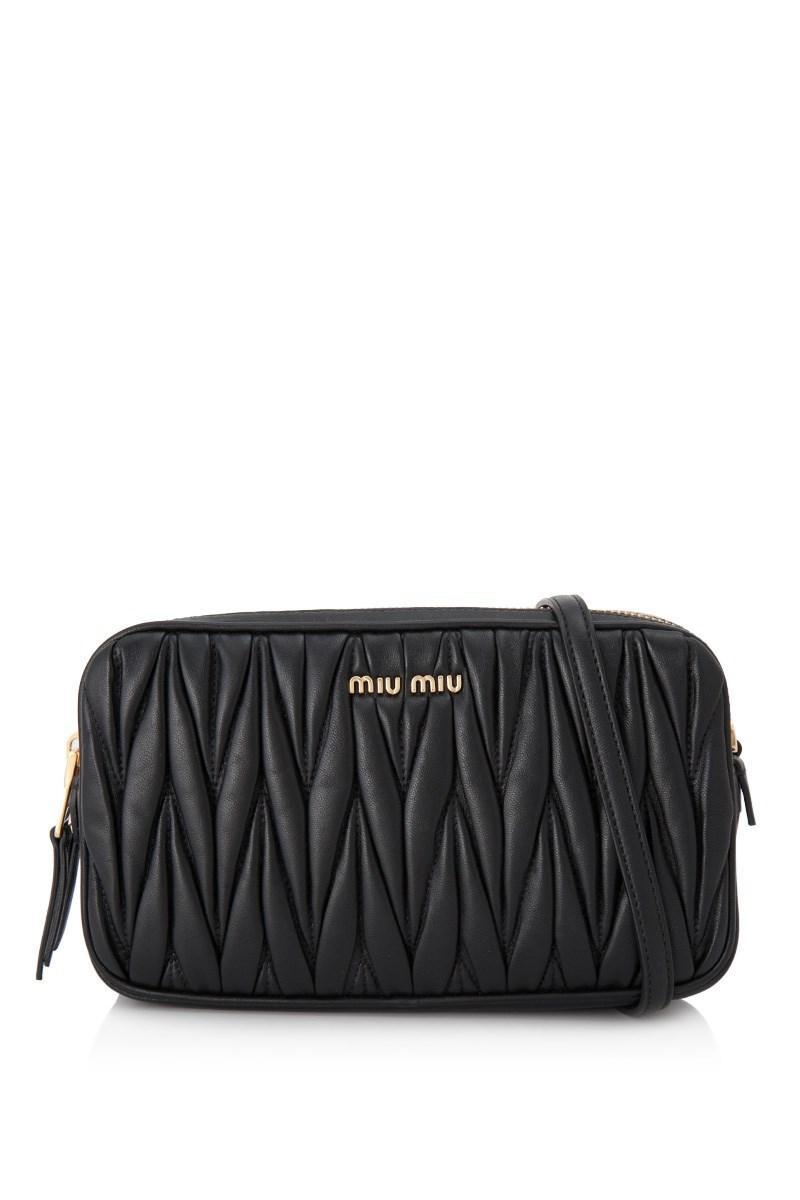 f808f128826 Miu Miu - Black Matelassé Sling Bag - Lyst. View fullscreen