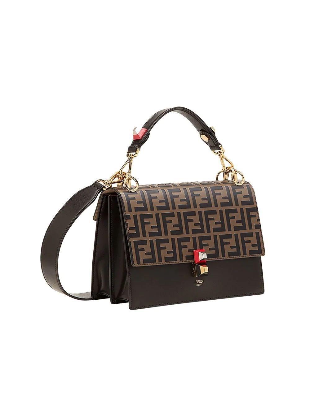 e34f2af8cab4 Fendi - Women s 8bt283a5tyf13wb Brown Leather Handbag - Lyst. View  fullscreen