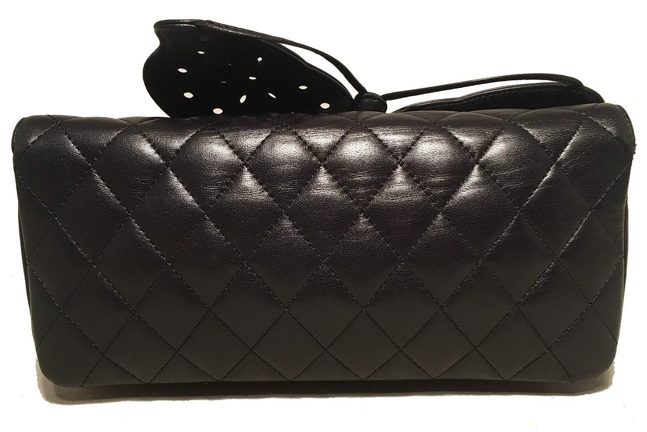 d5d78f5bc710de Chanel Quilted Black Leather Butterfly Classic Flap Shoulder Bag in ...