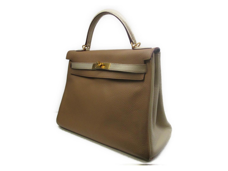 8b4daee82b Lyst - Hermès Kelly 32 Sp Order Handbag 2way Clemence Leather Tabac ...