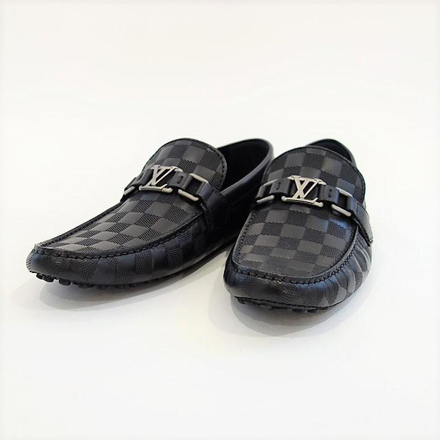 4b2029aa3d8 Lyst - Louis Vuitton Damier Infini Hockenheim Men s Shoes Loafer ...