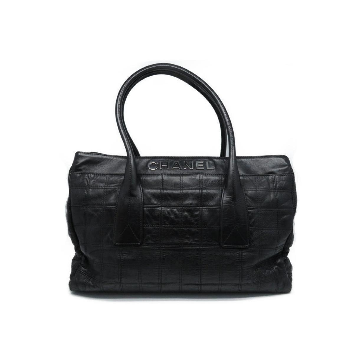 e5c8fb4239abe5 Chanel - Authentic Chocolate Bar Shoulder Tote Bag Leather Black Used  Vintage - Lyst. View fullscreen