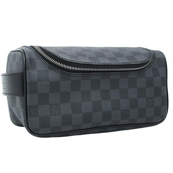 cfd688654450 Lyst - Louis Vuitton Toiletry Pouch Damier Graphite Black Grey ...